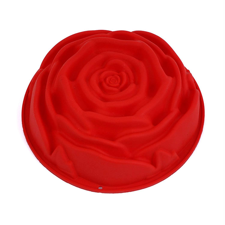 Форма для выпечки Guffman Rose силиконовая 16*17 см красная недорого