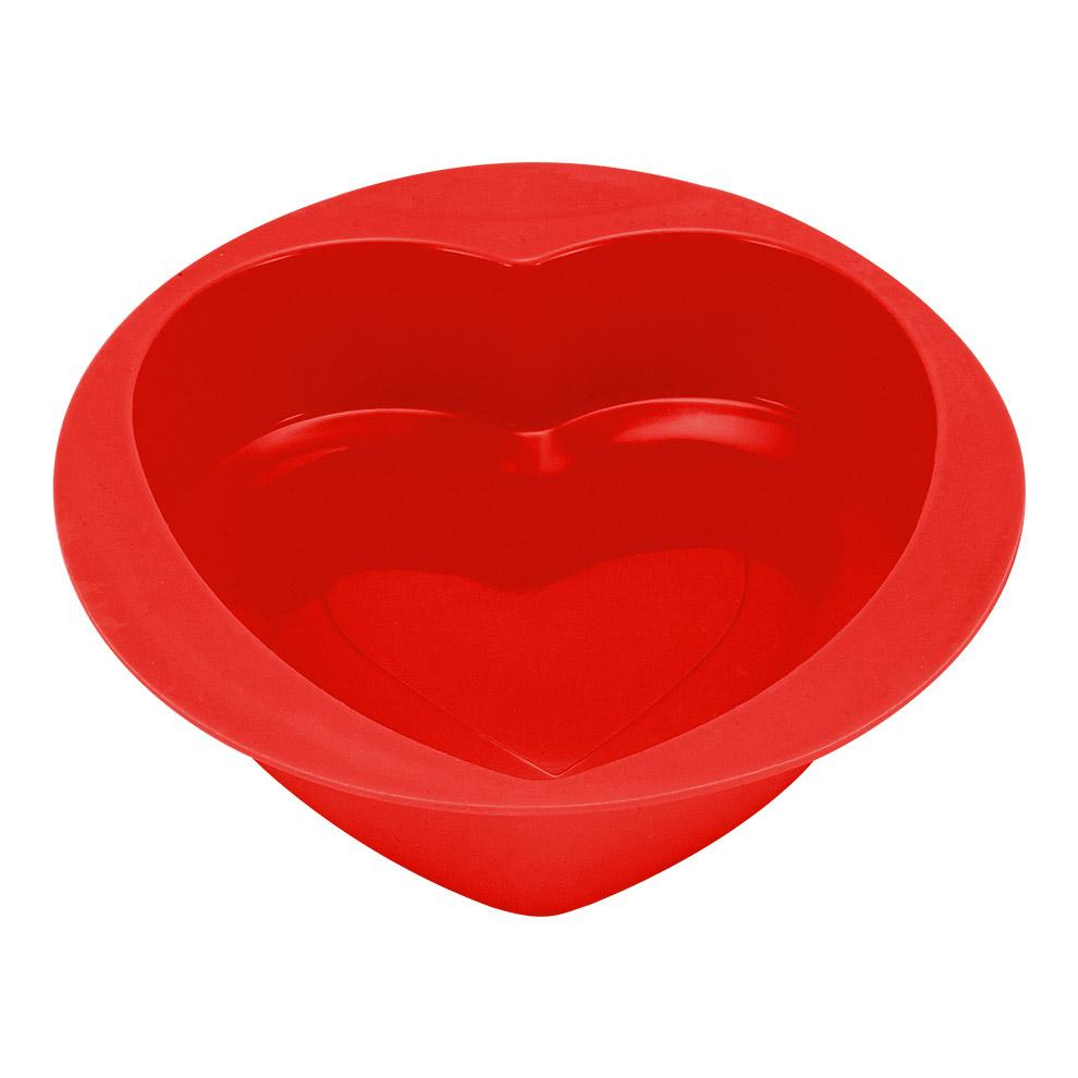 Форма для выпечки Guffman Heart силиконовая 21*22 см красная недорого