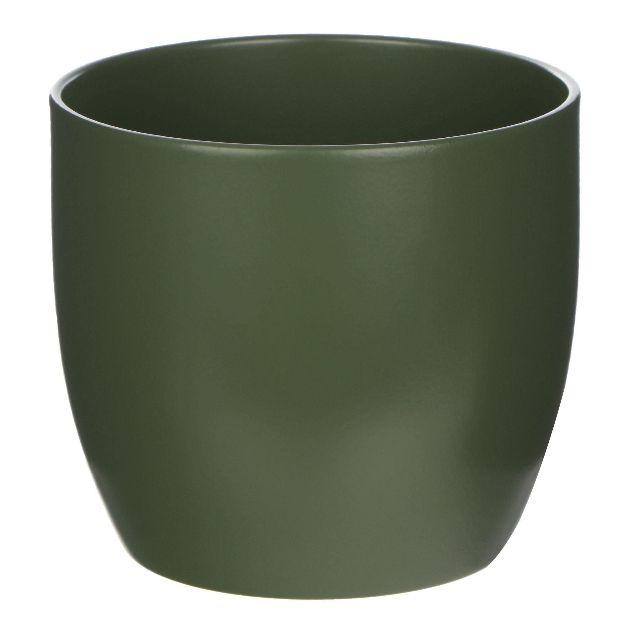 Кашпо Soendgen basel d12 матовый темно-зеленый недорого