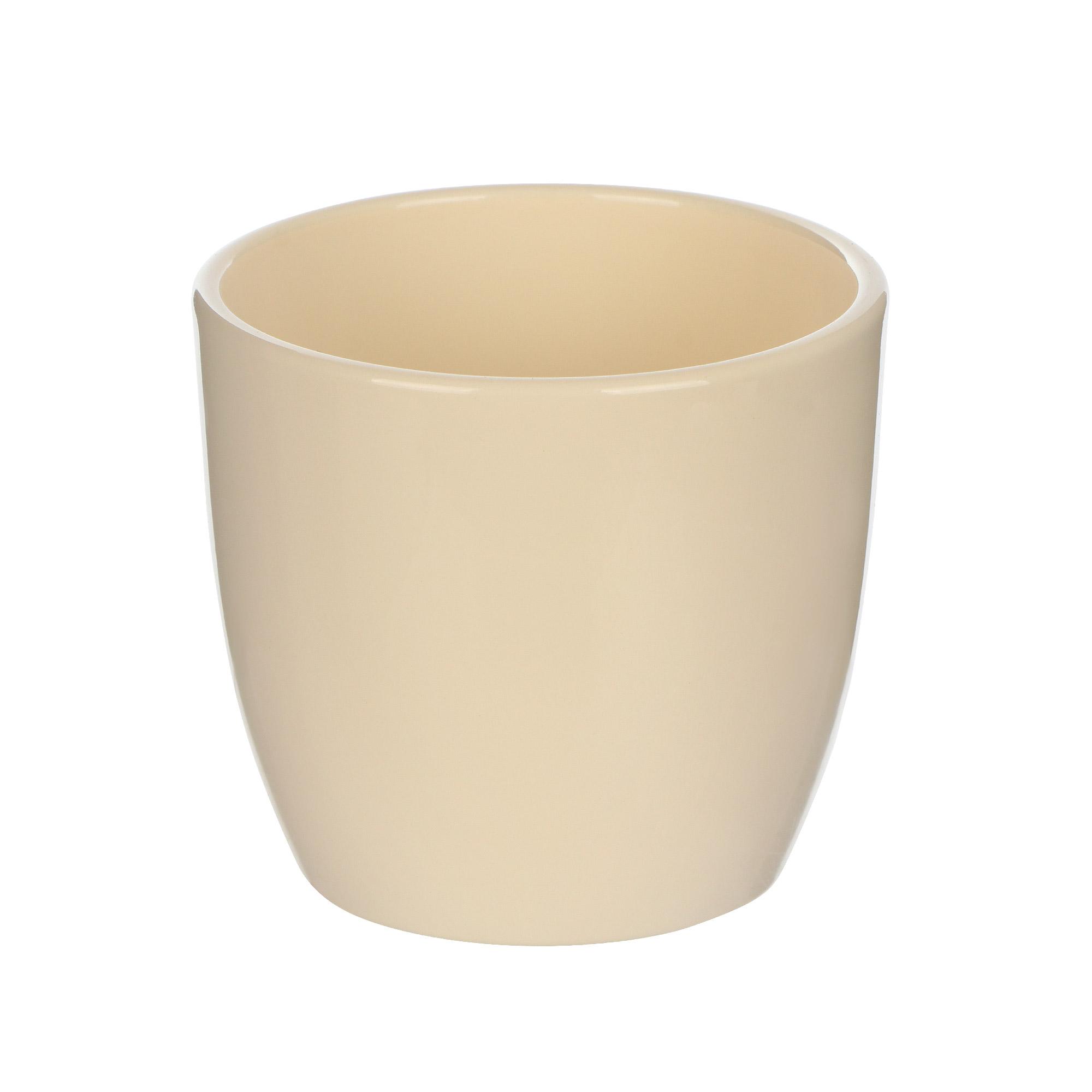 Кашпо Soendgen basel d08 глянцевый ваниль недорого
