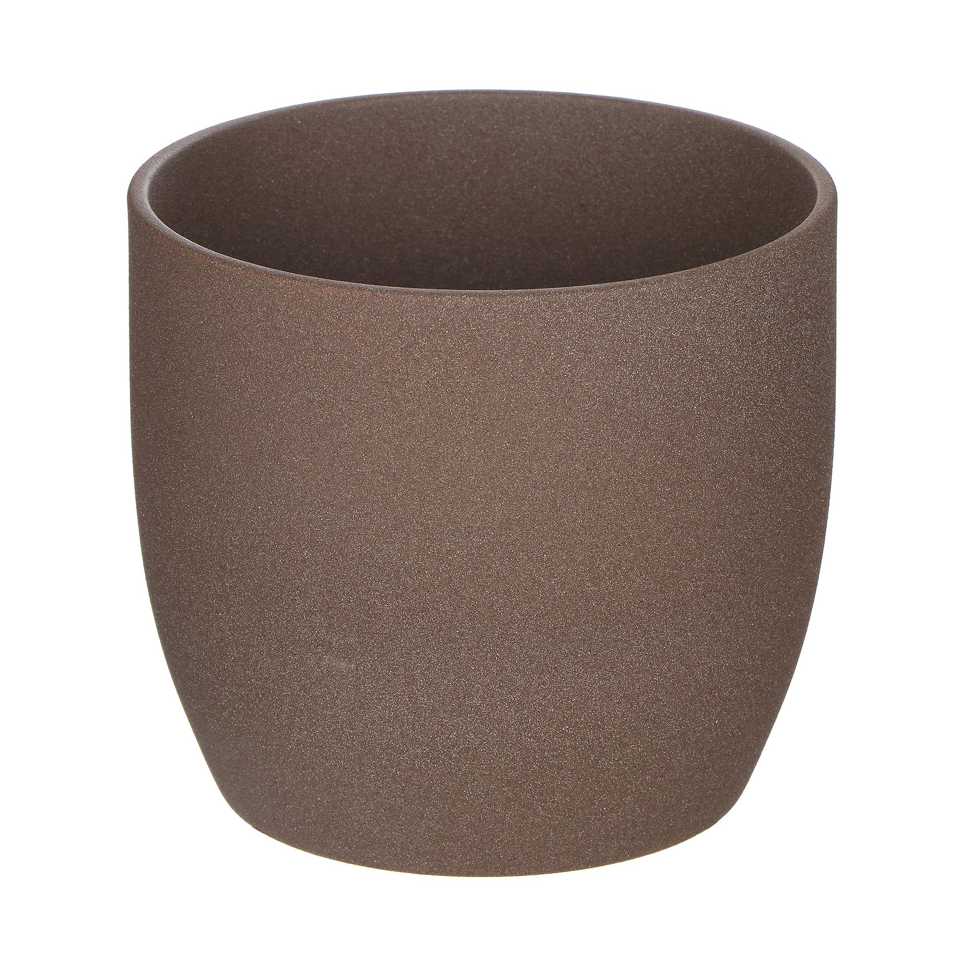 Кашпо Soendgen basel d12 коричневый недорого