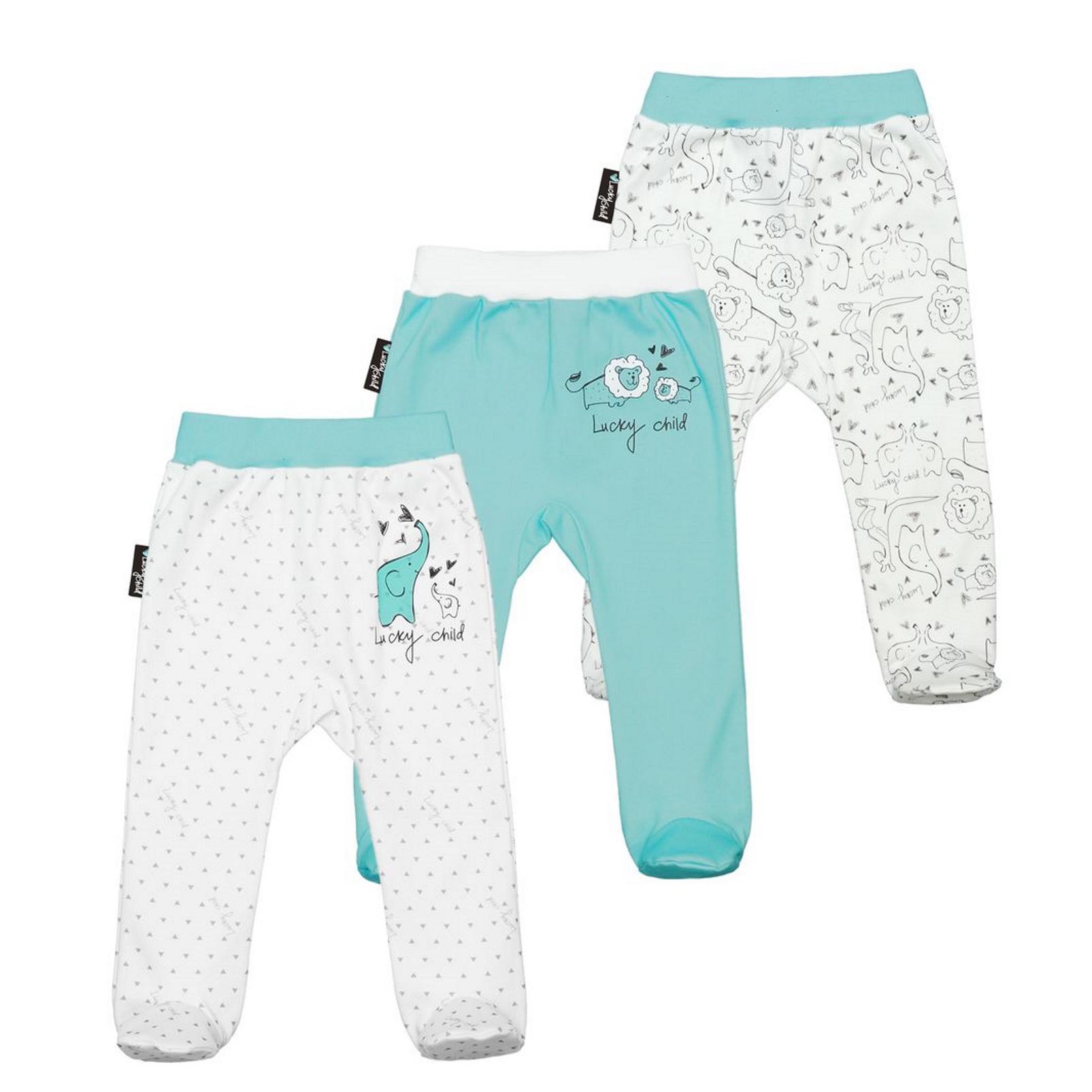 Фото - Комплект ползунков Lucky Child Зоопарк 3 шт 74-80 комплект брюк lucky child котики 3 шт 74 80