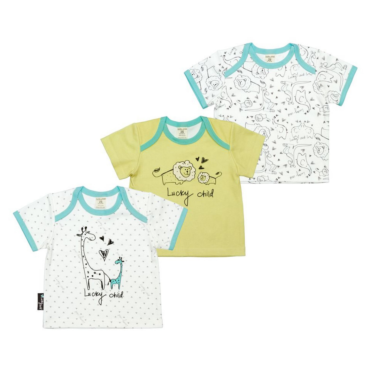 Комплект распашонок Lucky Child Зоопарк 3 шт 68-74