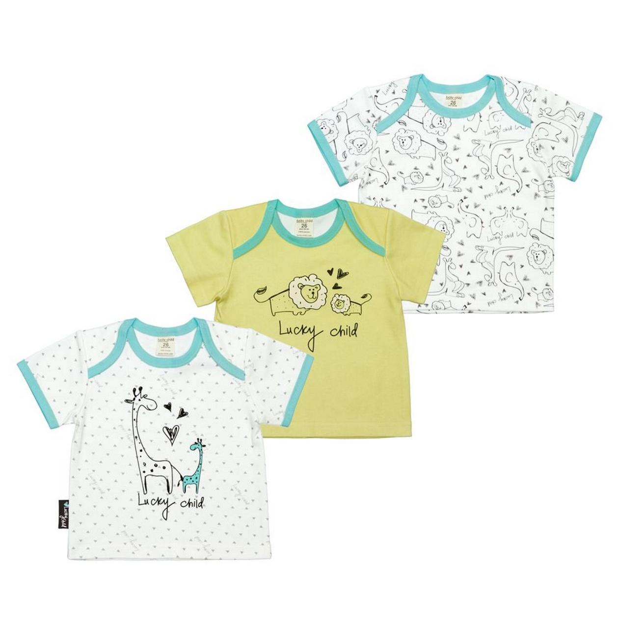 Комплект распашонок Lucky Child Зоопарк 3 шт 98-104 фото