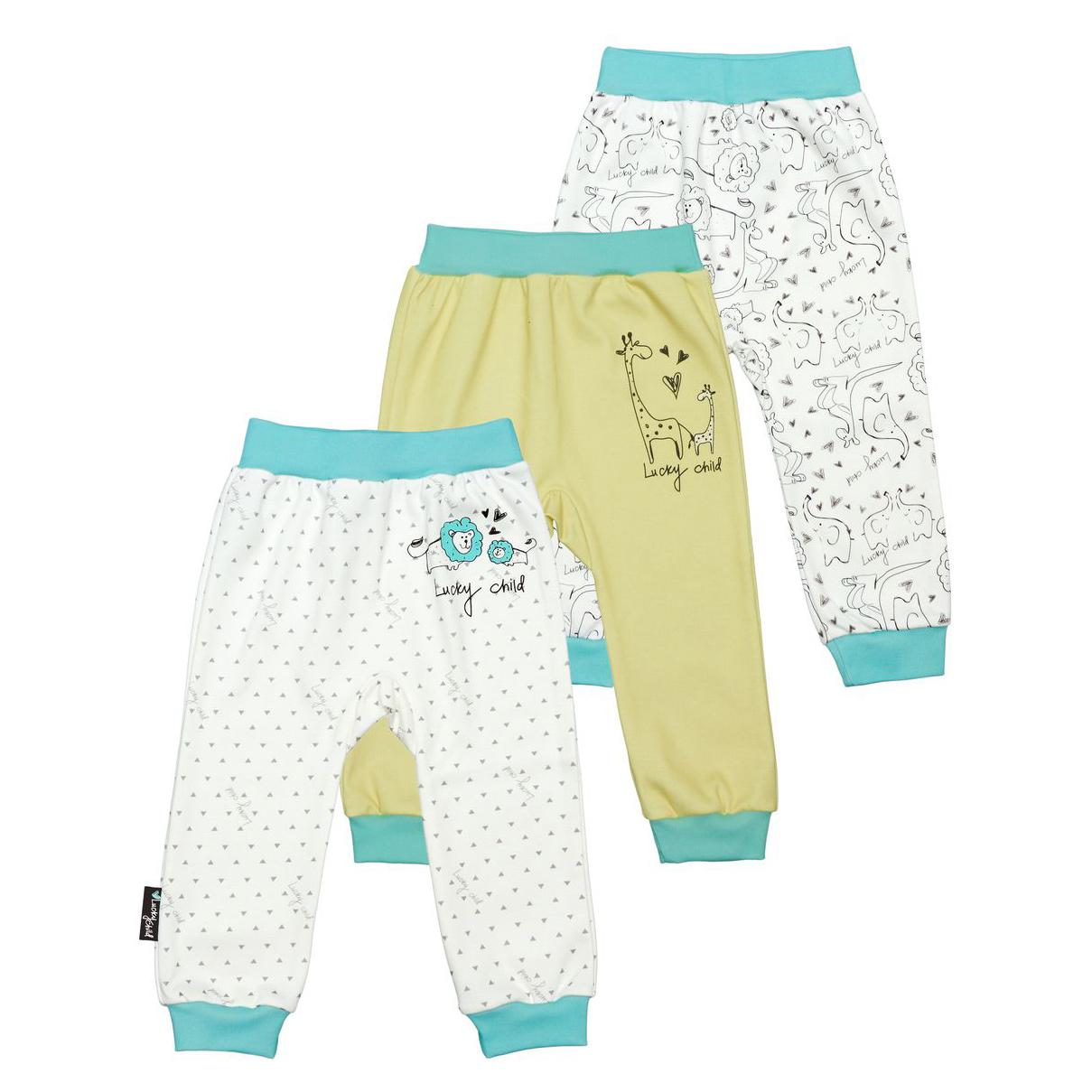 Комплект штанишек Lucky Child Зоопарк 3 шт 62-68