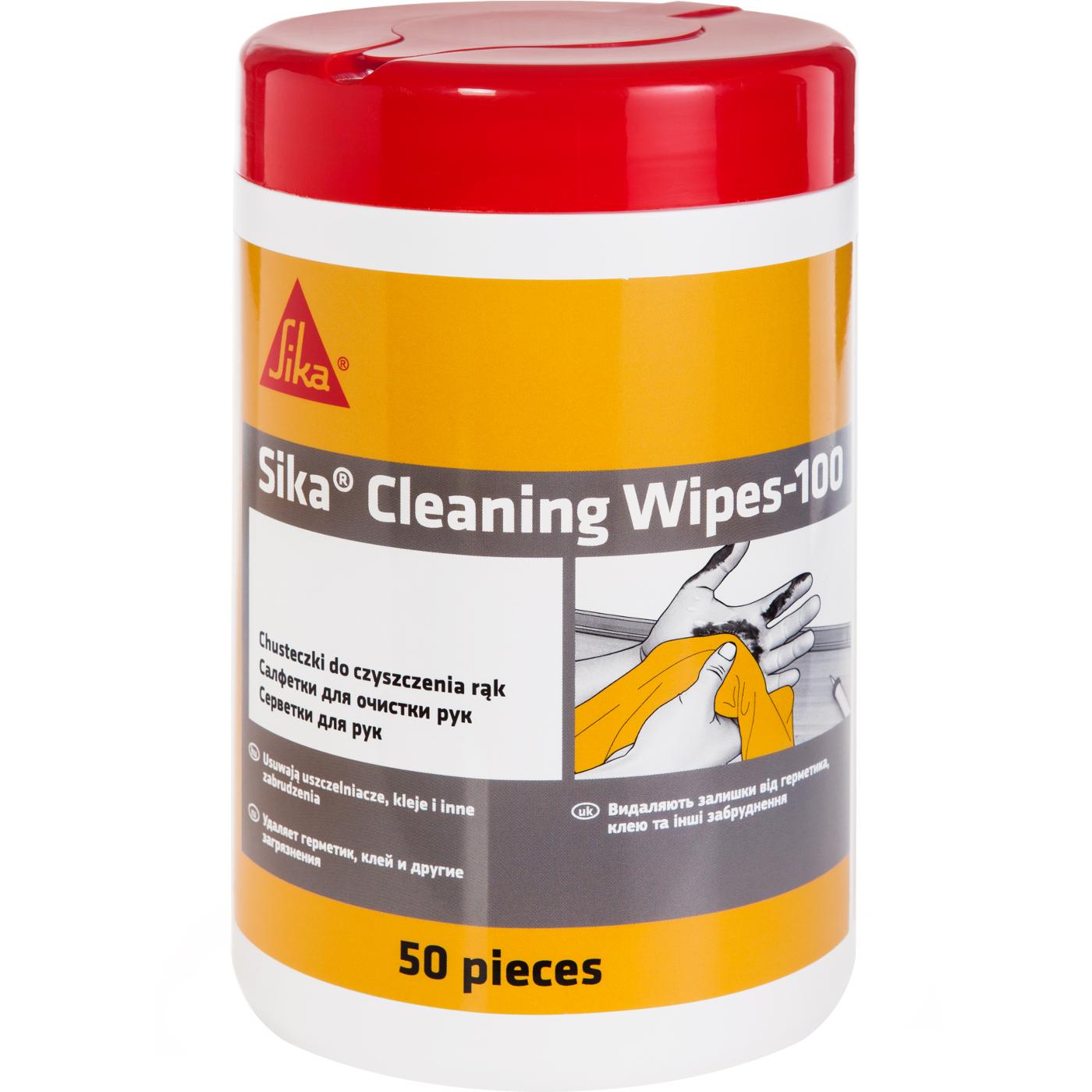 Очищающие салфетки SIKA Cleaning Wipes-100 50 шт