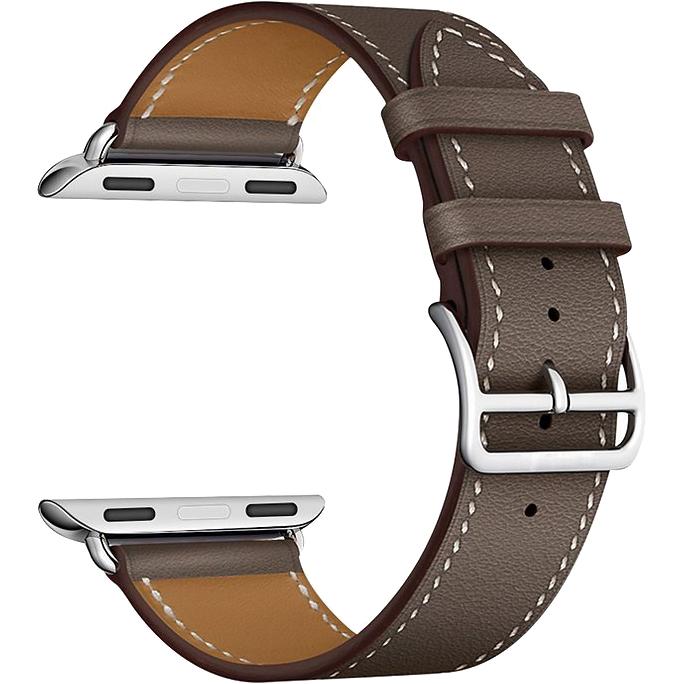 Фото - Ремешок LYAMBDA Minkar для Apple Watch 38-40 LWA-02-40-GR Gray-brown for 38mm 42mm apple watch series1 2 wrist bracelet strap for iwatch sports edition colorful soft silicone replacement sport band