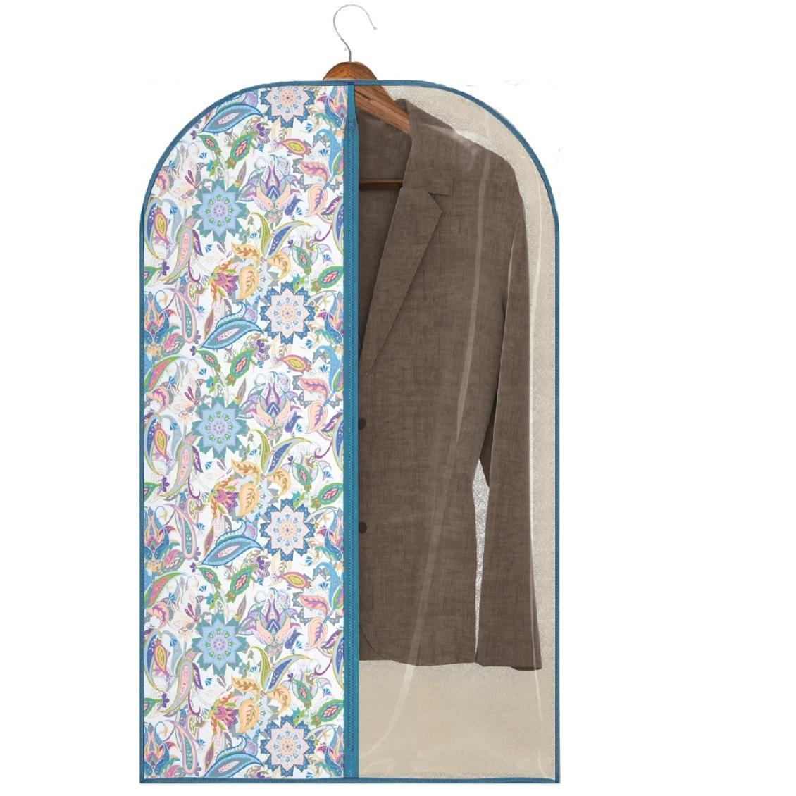 Фото - Чехол для одежды Hausmann 60х100 см, синий/принт рыжий кот чехол для одежды 60х100 см 312103 синий