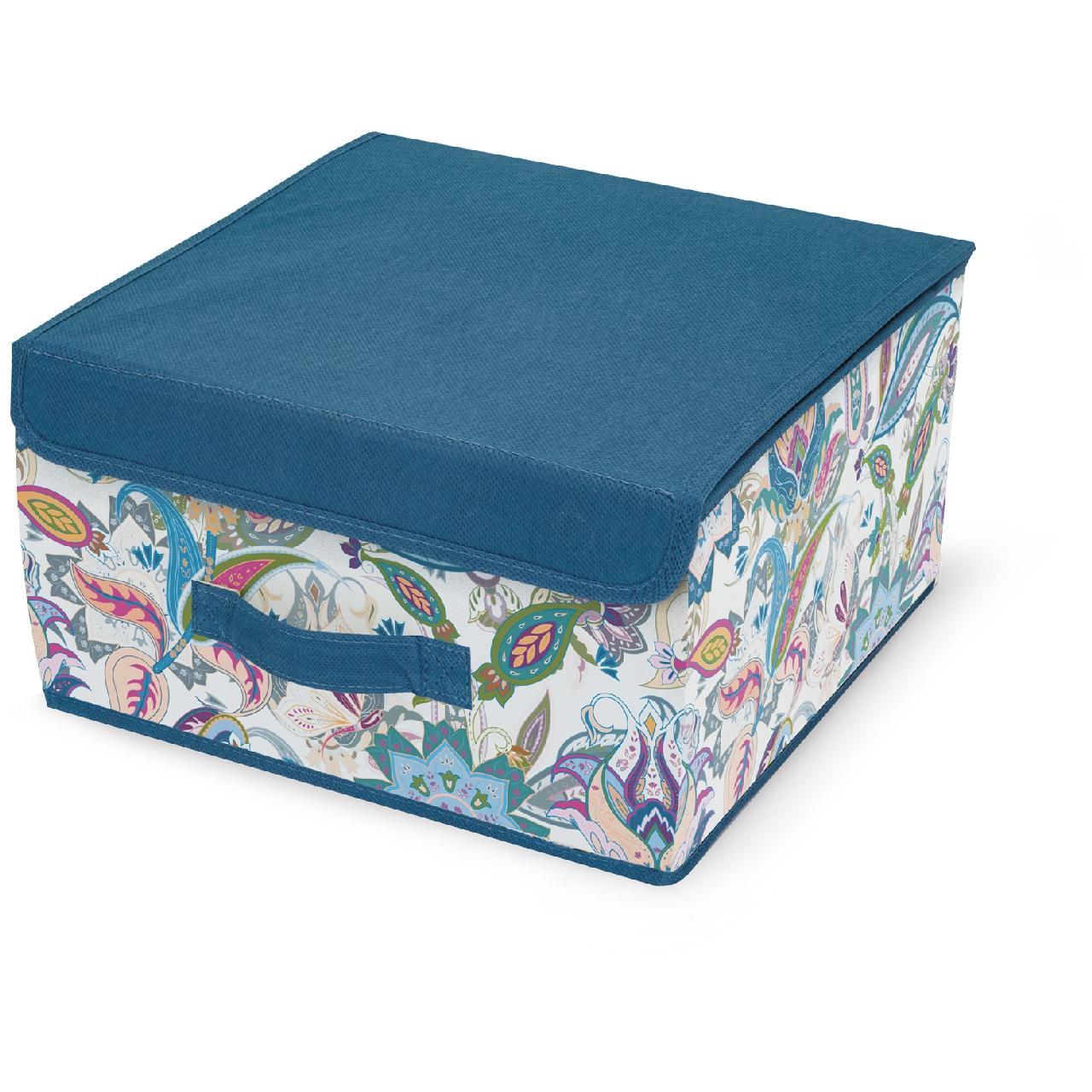Кофр для хранения Hausmann 30х30х16 см, синий/принт hausmann кофр для хранения hm 6a 202 60x45x30 см серый