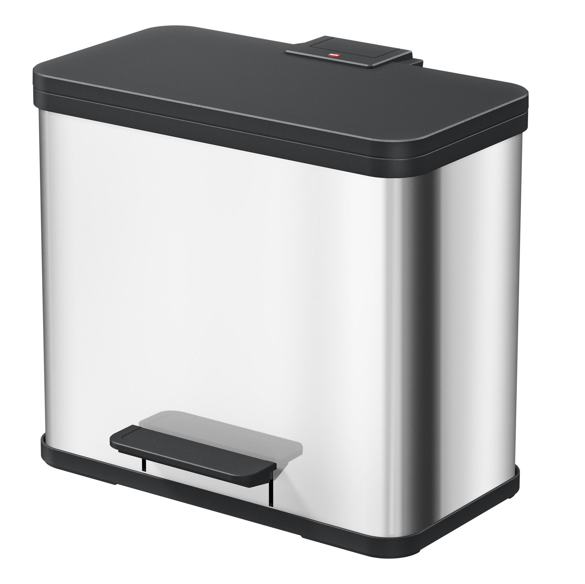 Контейнер мусорный Hailo Oko duo plus l 17+9л. с системой раздельного хранения мусора.