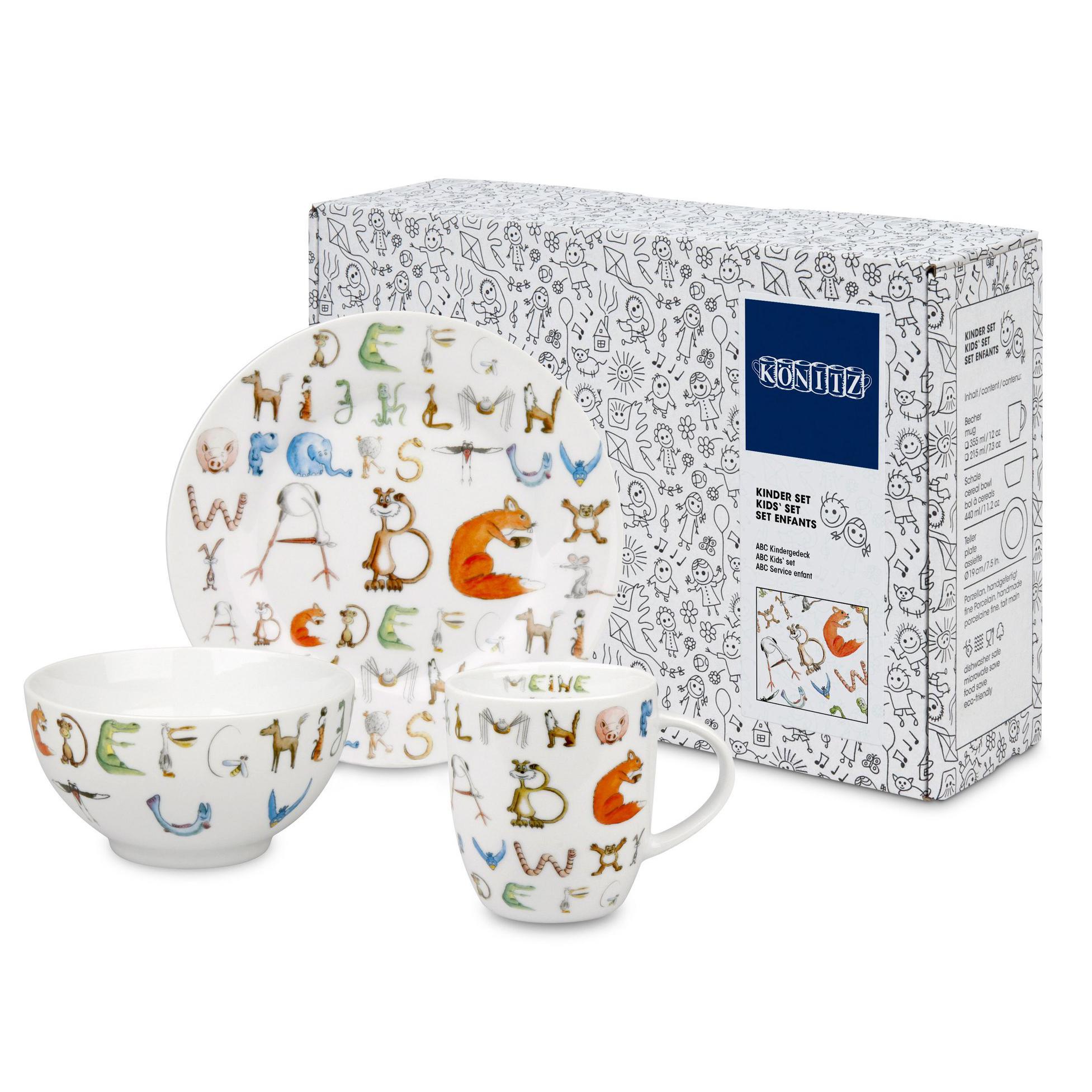 Набор детской посуды Konitz ABC 3 предмета