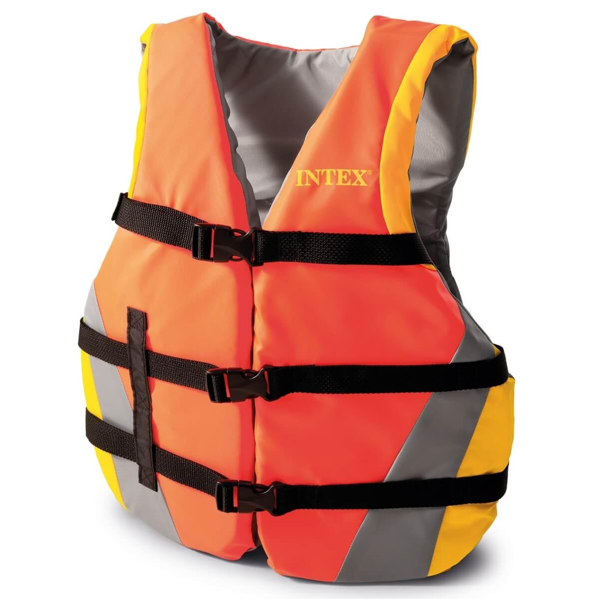 Жилет спасательный для взрослых Intex 40-70 кг