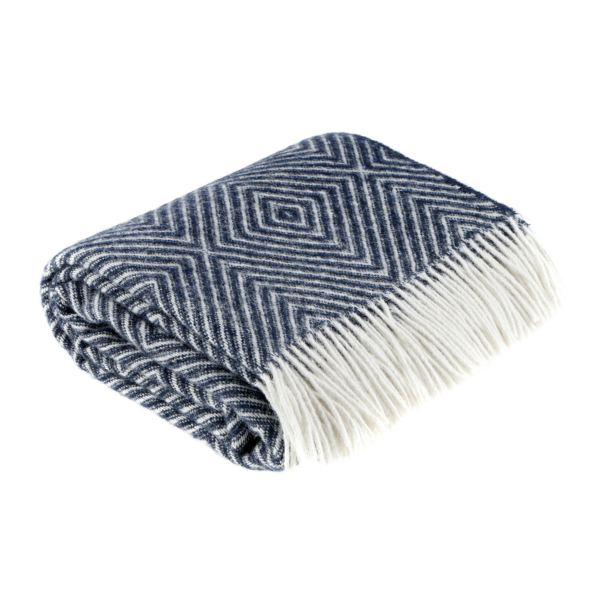 Плед Home blanket astrid 130х190 бело-темно синий