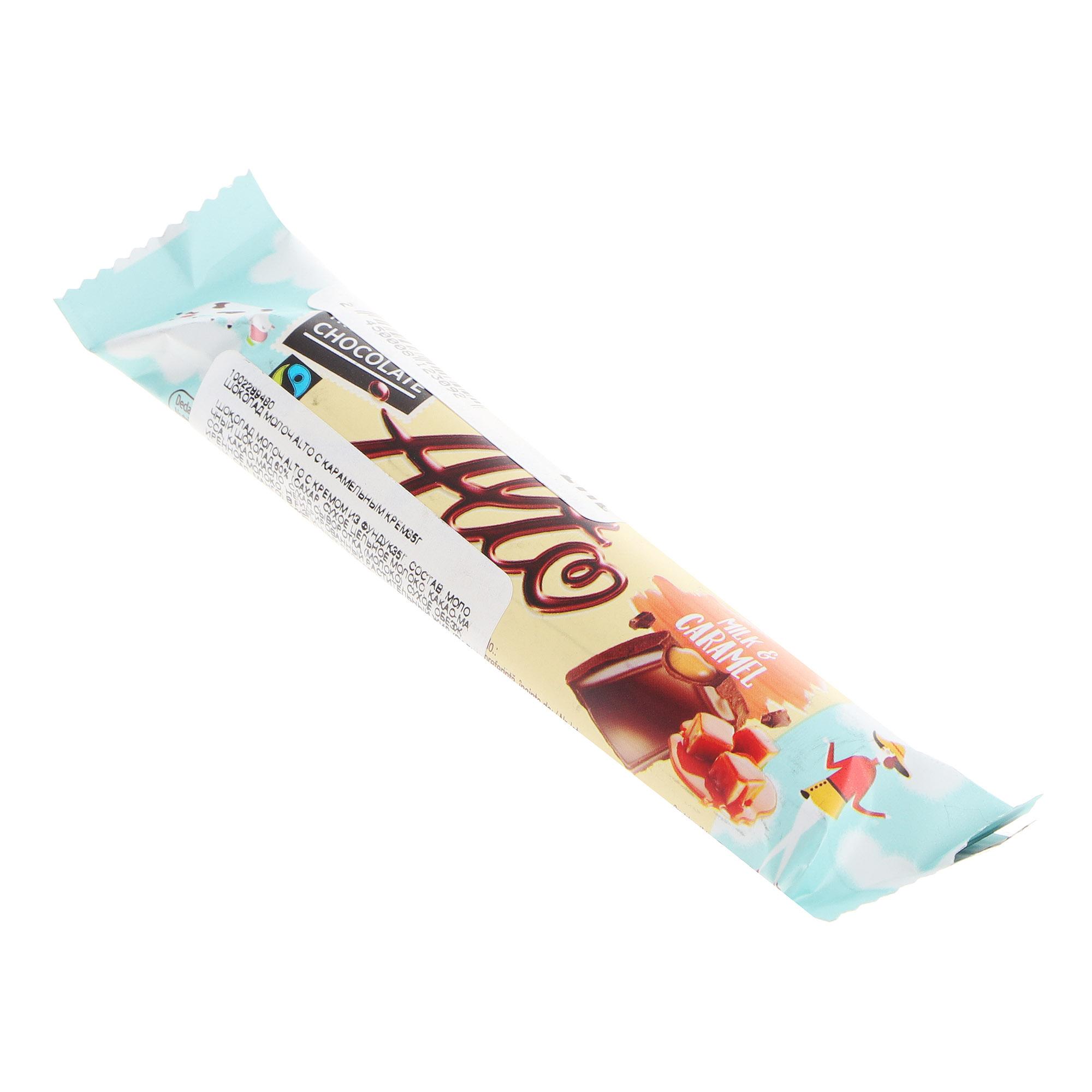 Шоколад молочный Romega Alto с карамельным кремом 35 г фото