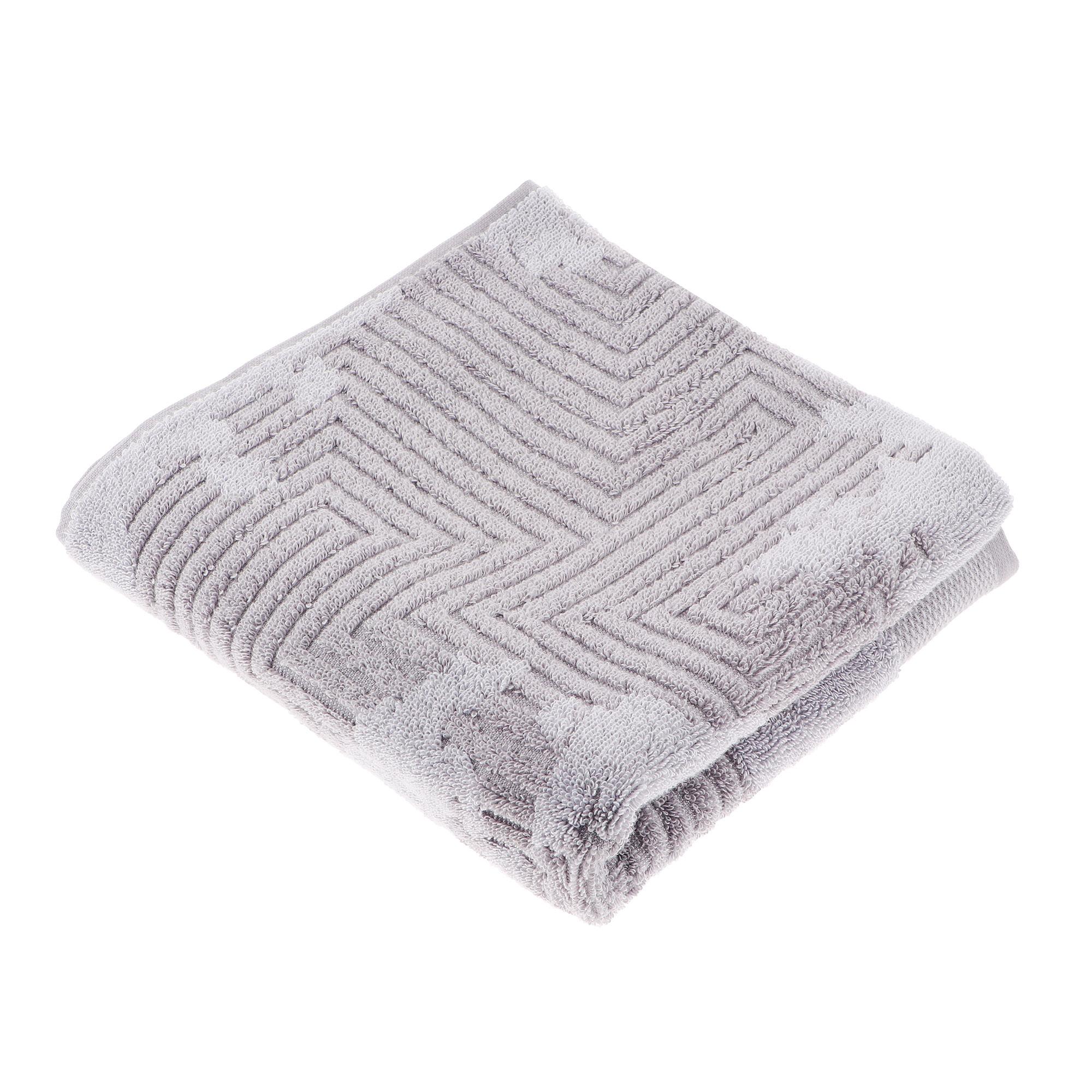 Полотенце махровое Cleanelly нуовэ террэ 70х140 пестротканное бело-серое фото