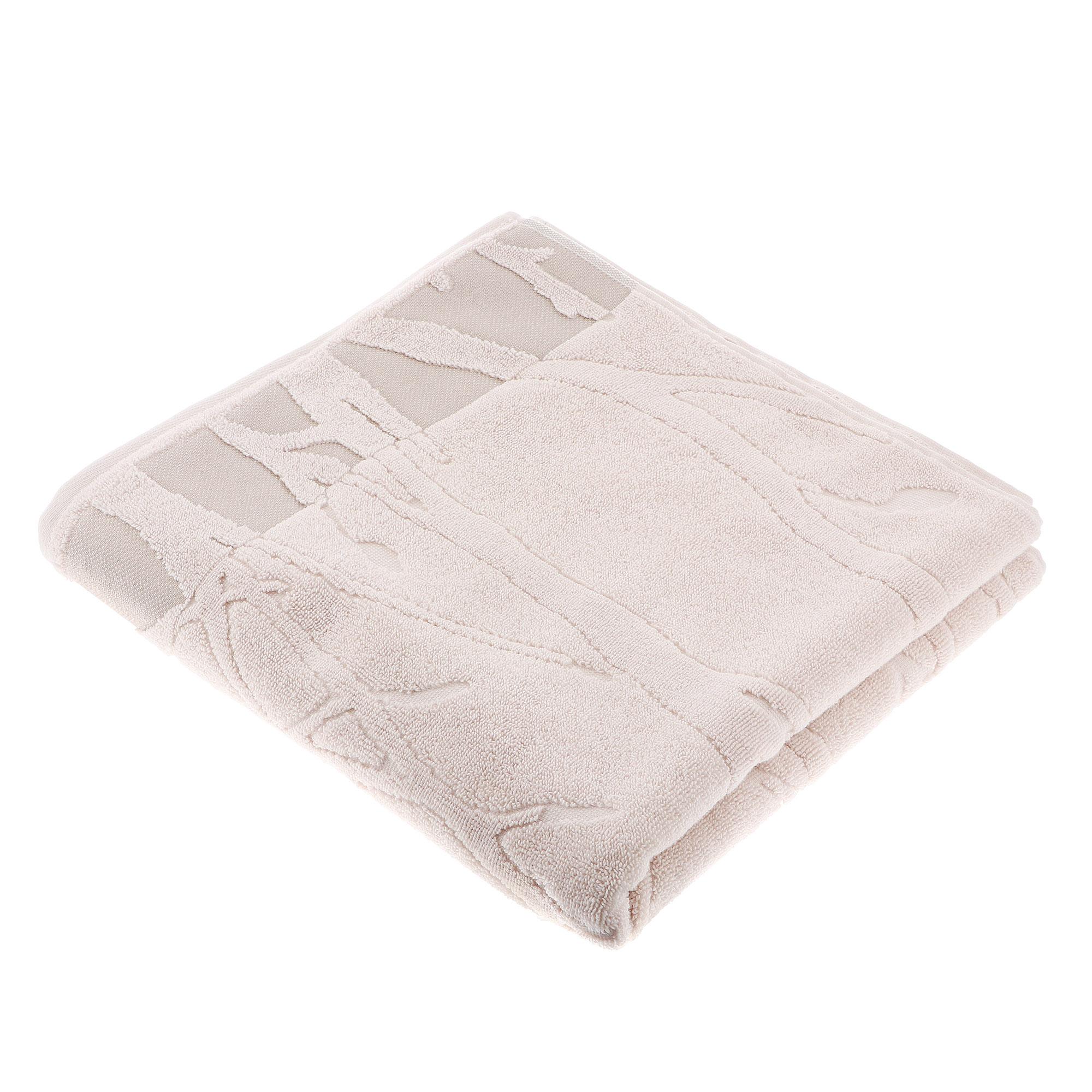 Полотенце махровое Cleanelly пиоппо 70х140 гладкокрашенное молочный