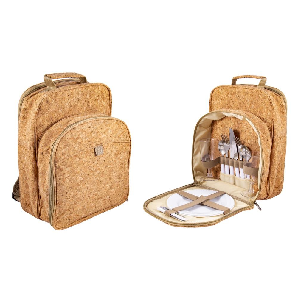 Набор для пикника Русские подарки на 2 перcоны в рюкзаке 26х17х35 см