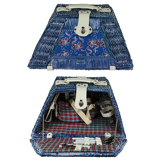 Набор для пикника Русские подарки на 2 персоны 46х30х19х26х24 см