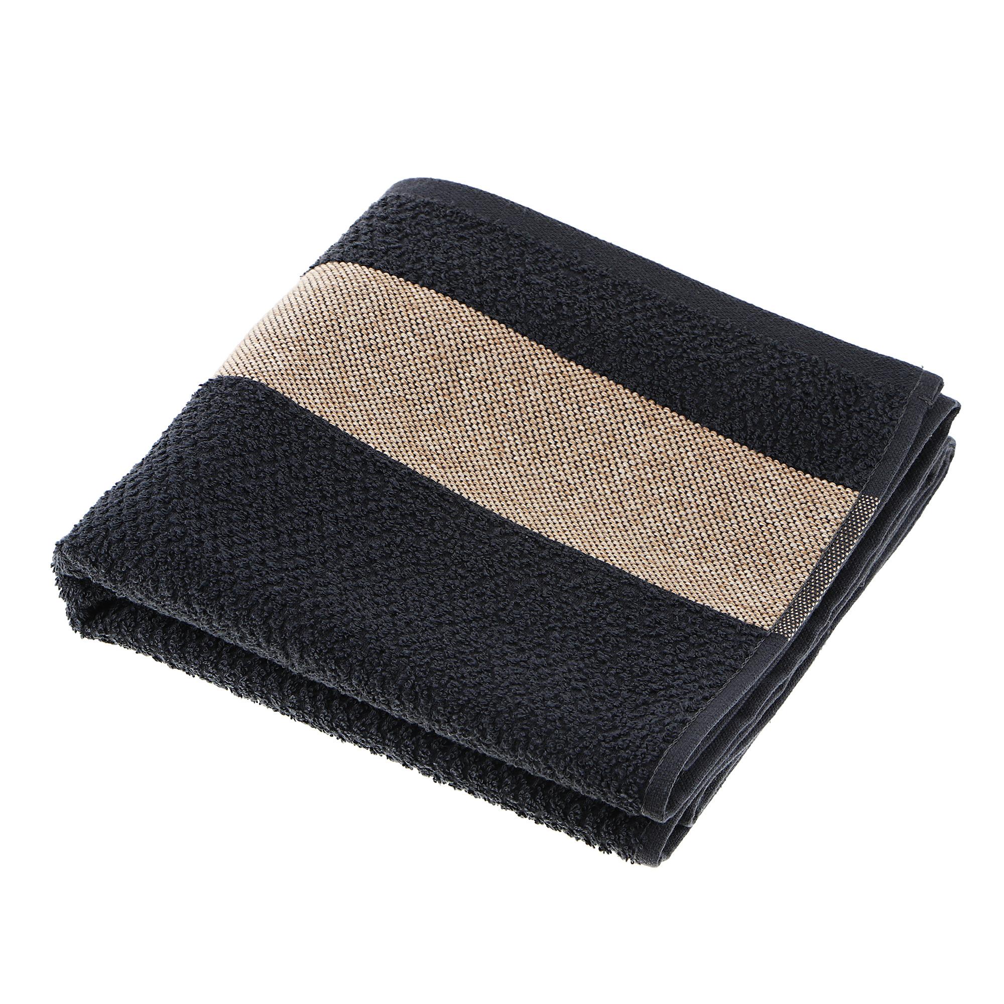 Полотенце махровое Asil woody 70x140 black.