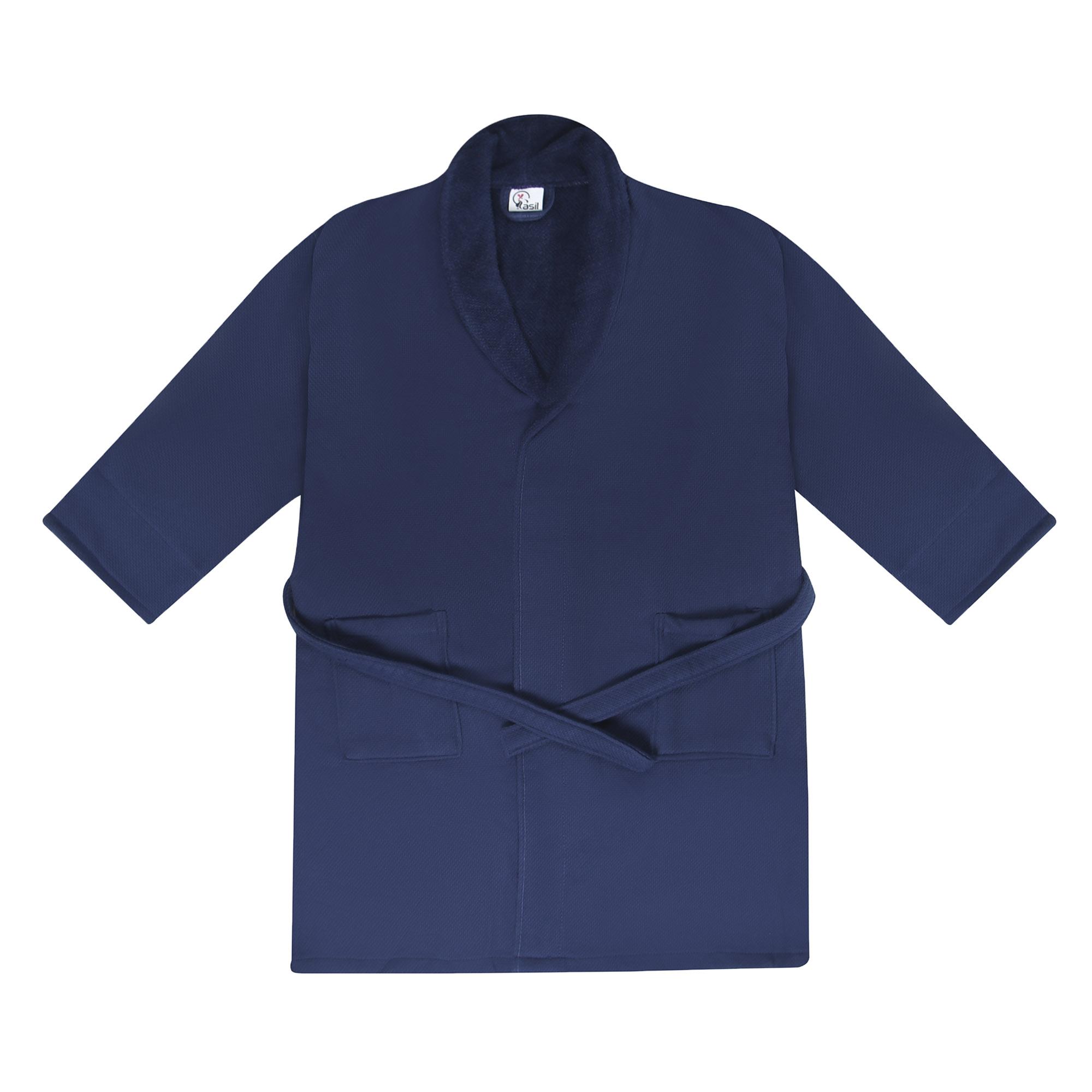 Фото - Халат махровый Asil двухсторонний XL темно-синий халат махровый asil двухсторонний xxl темно синий