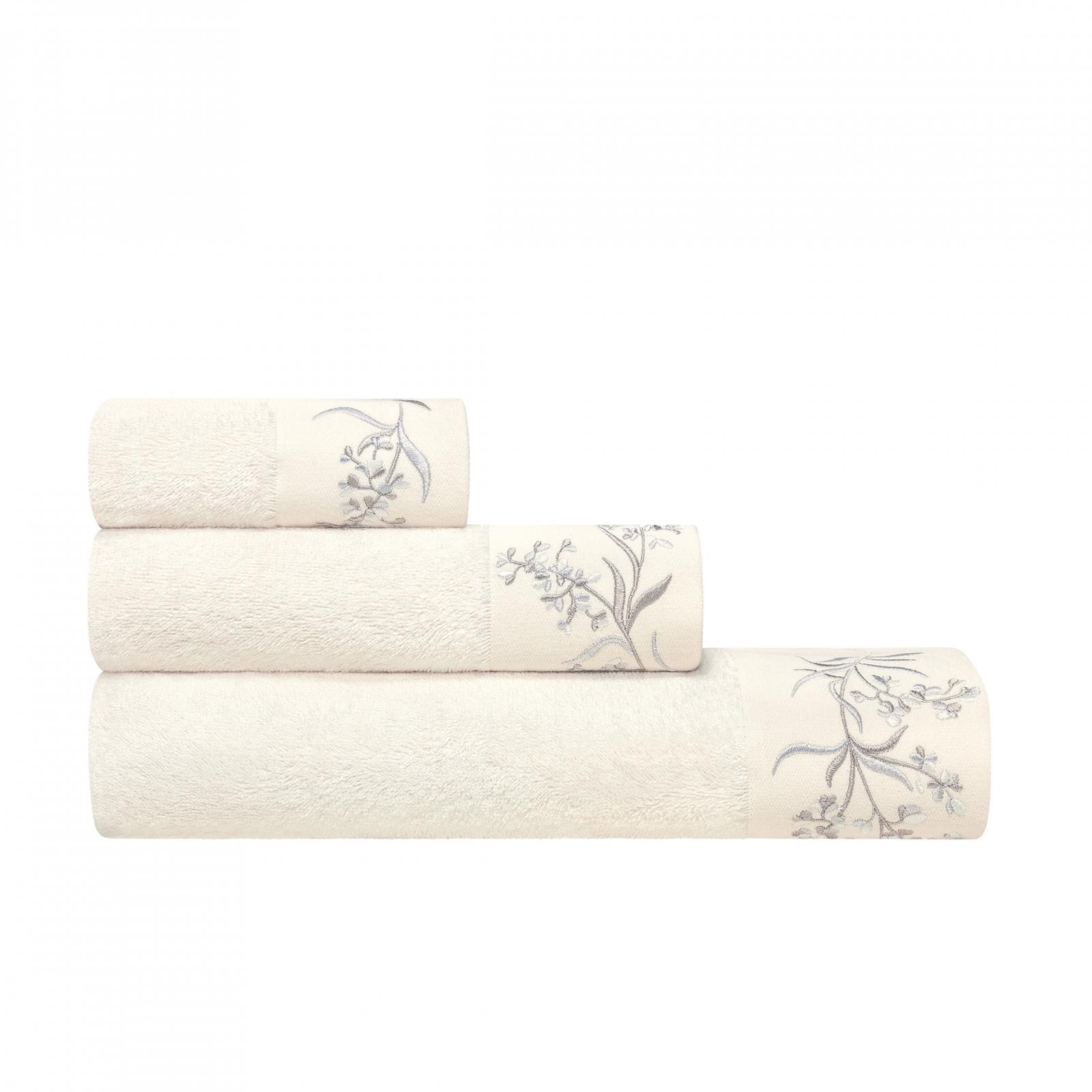 Фото - Комплект полотенец Togas соланж экрю 3 предмета 40х60/50х100/70х140 комплект полотенец togas миэль темно серый 2 пр 50х100 70х140