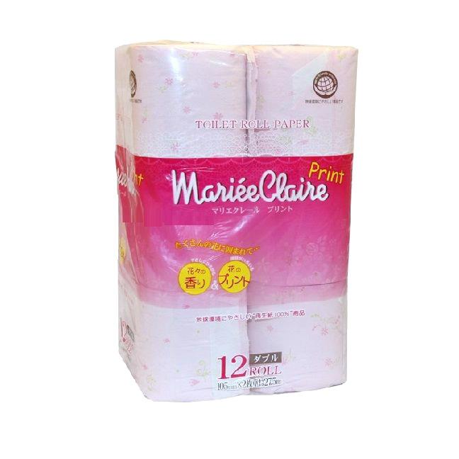 Бумага туалетная Ideshigyo Mariee Claire розовая 12 рулонов бумага туалетная ideshigyo персик и нектарин 12 рулонов