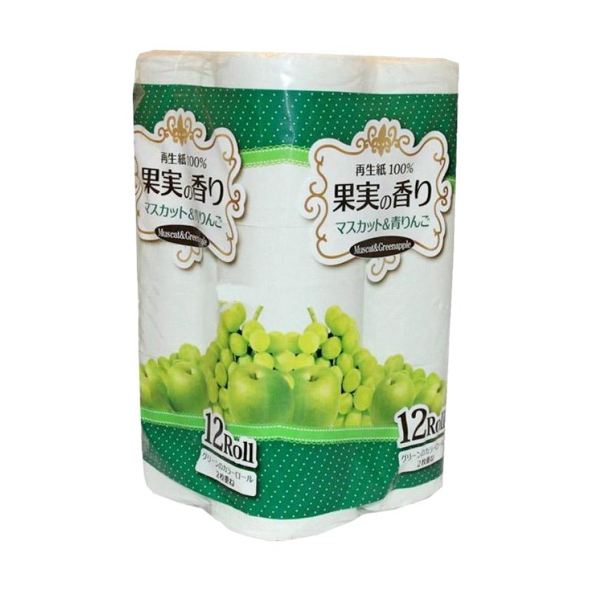 Бумага туалетная Ideshigyo Мускат и яблоко 12 рулонов бумага туалетная ideshigyo персик и нектарин 12 рулонов