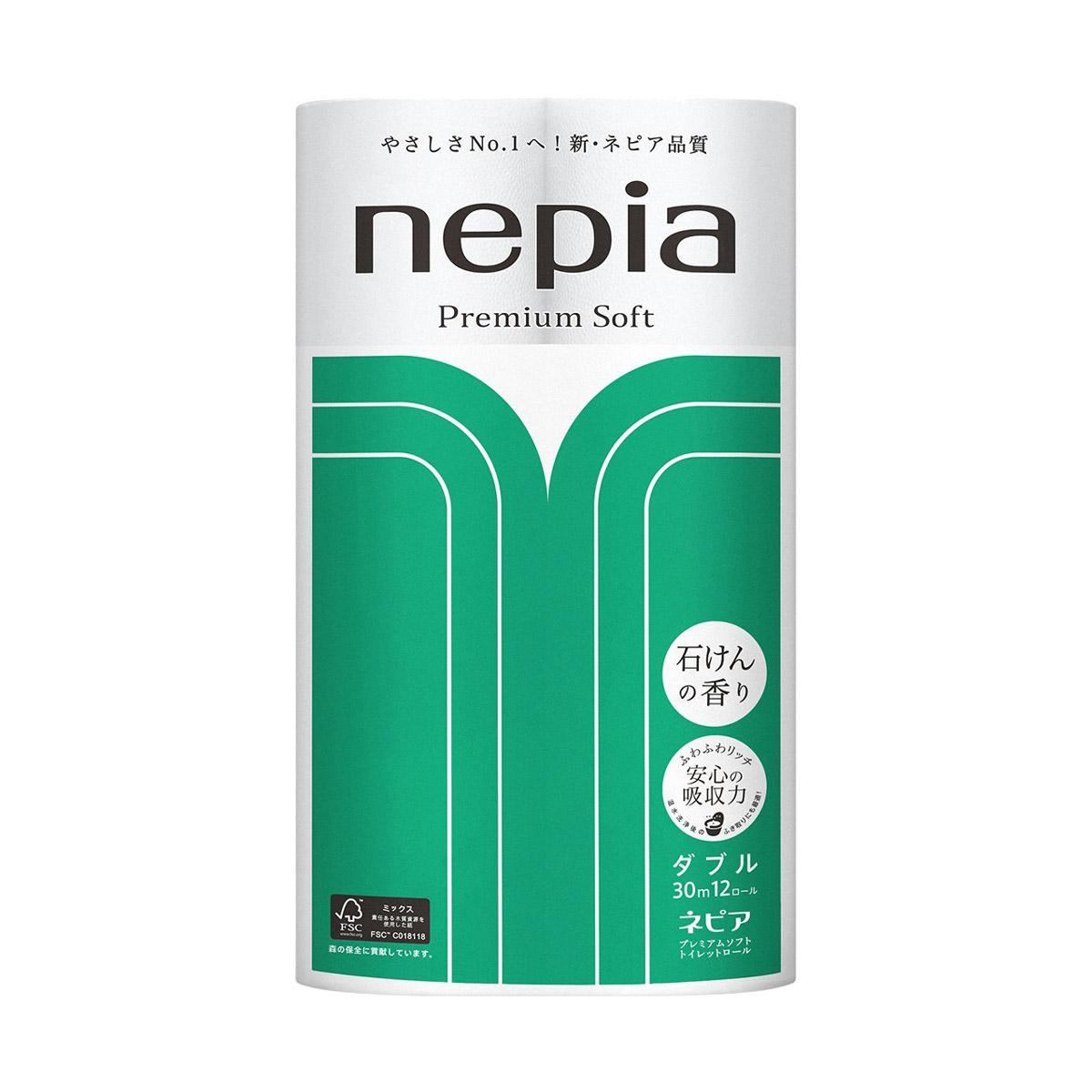 Бумага туалетная Nepia Premium Soft 12 рулонов бумага туалетная ideshigyo персик и нектарин 12 рулонов