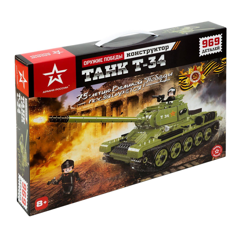 Фото - Конструктор Армия России Танк Т-34 969 деталей танк т 80бв