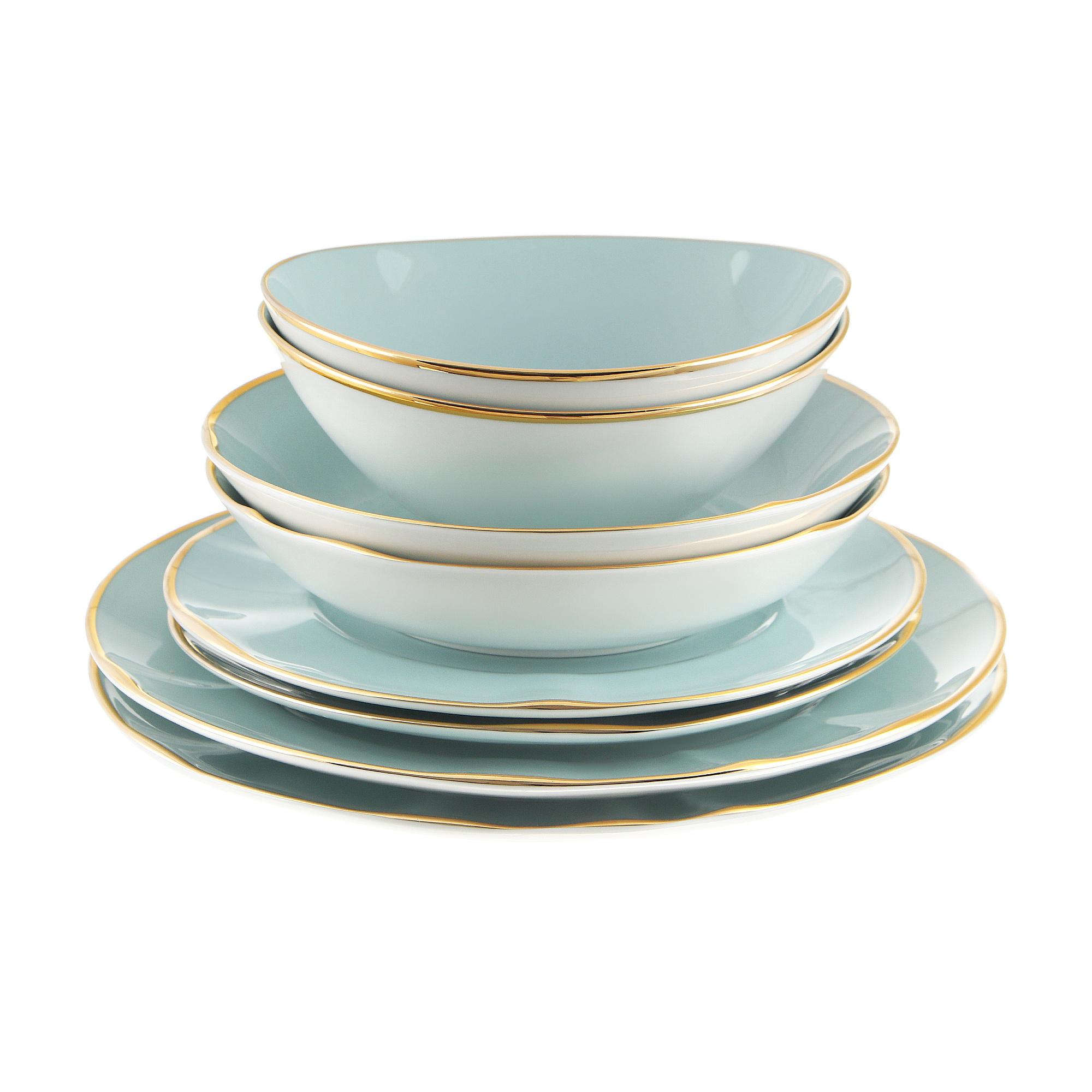 Сервиз обеденный 8 предметов Spal Aqua gold