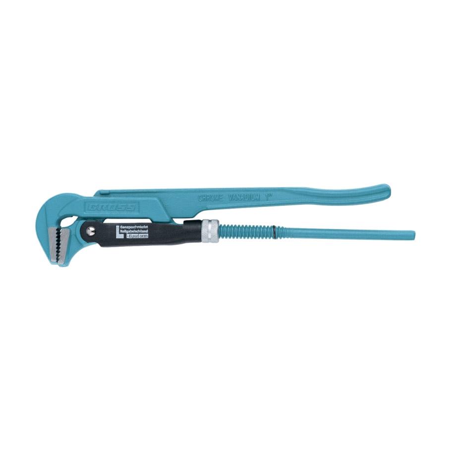 Ключ Gross трубный рычажный №0 3/4 цельнокованый CrV - L ключ трубный gross 15606