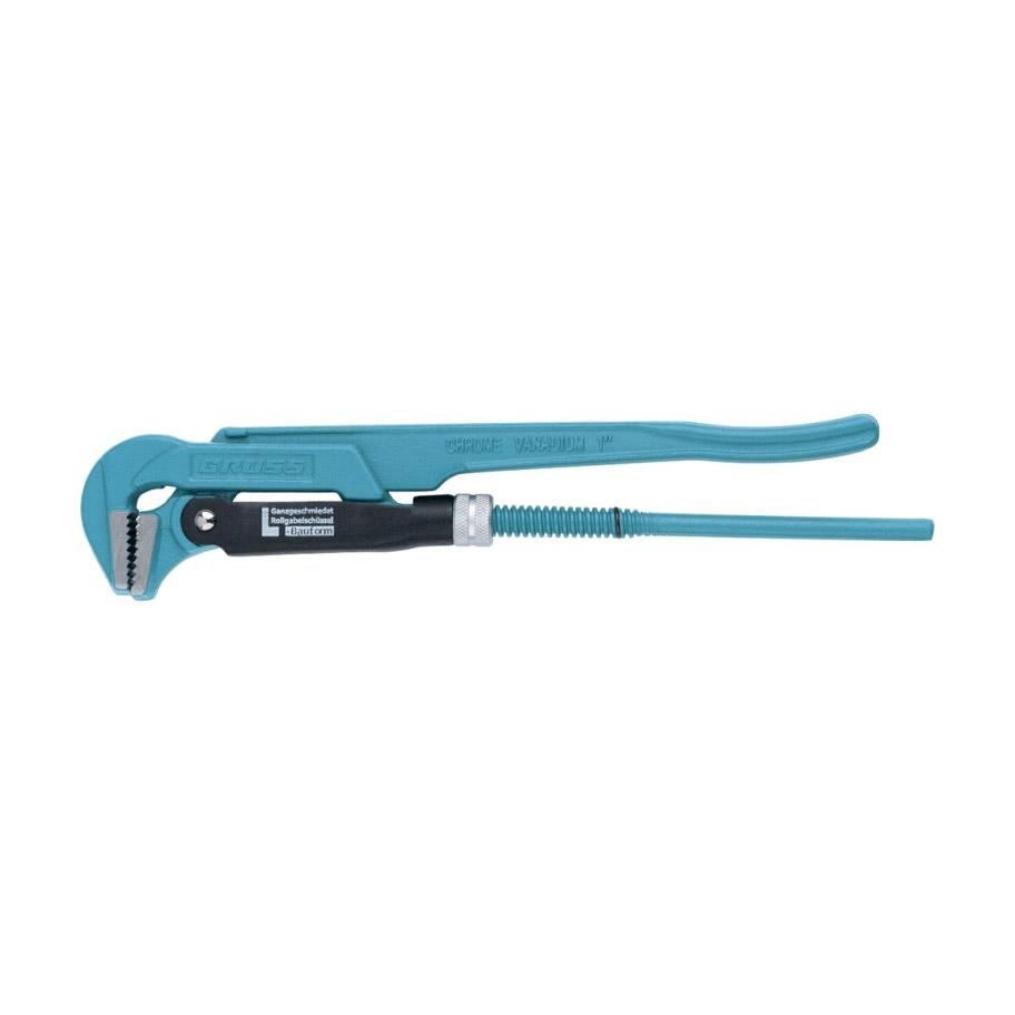 Ключ Gross трубный рычажный №1 1 цельнокованый CrV - L ключ трубный gross 15606