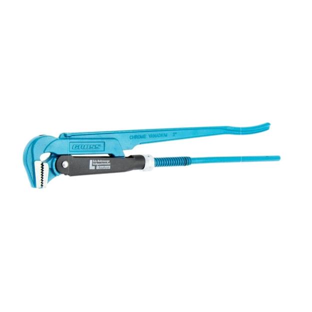 Ключ Gross трубный рычажный №3 2 цельнокованый CrV - L ключ трубный gross 15606