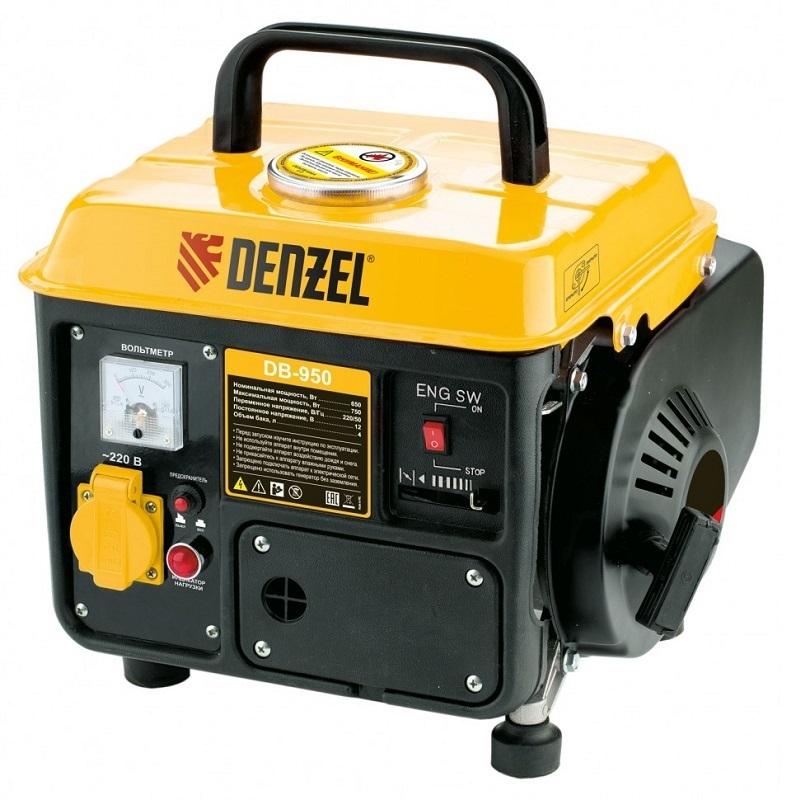 Генератор бензиновый Denzel DB950 0,75 кВт 4л