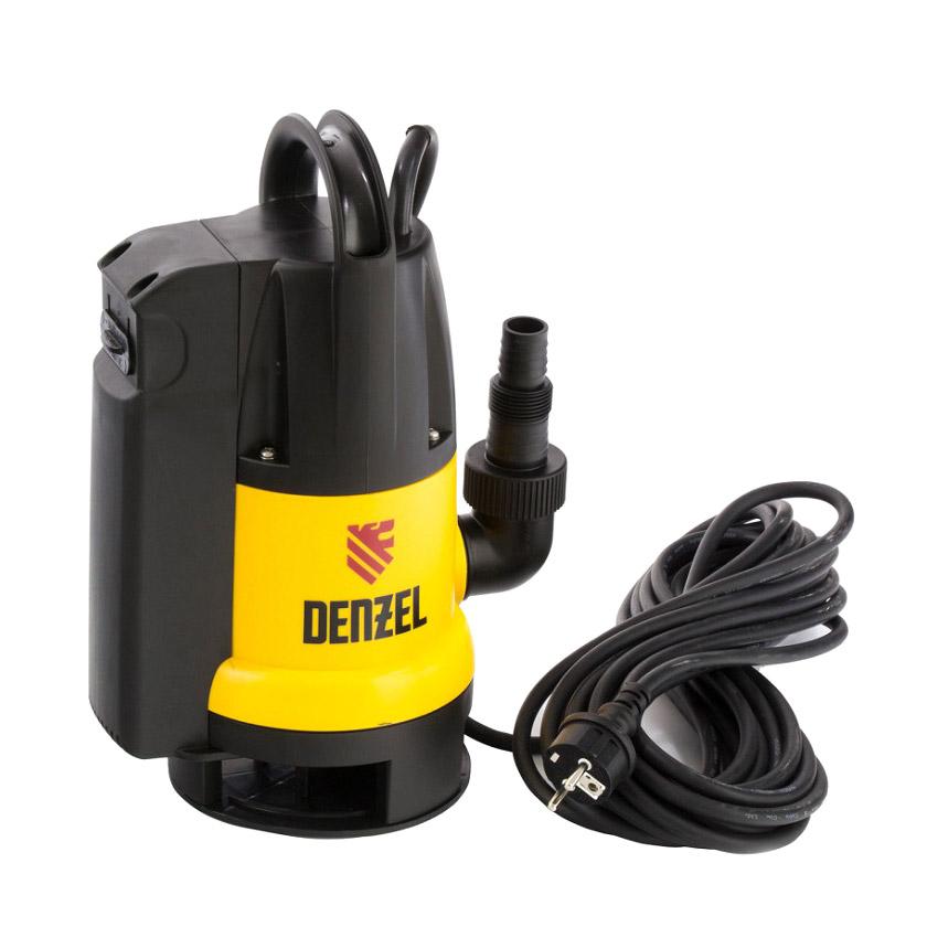 Насос дренажный Denzel DP800A 800 Вт 5м 13000 л/ч дренажный насос denzel dp450s 450 вт