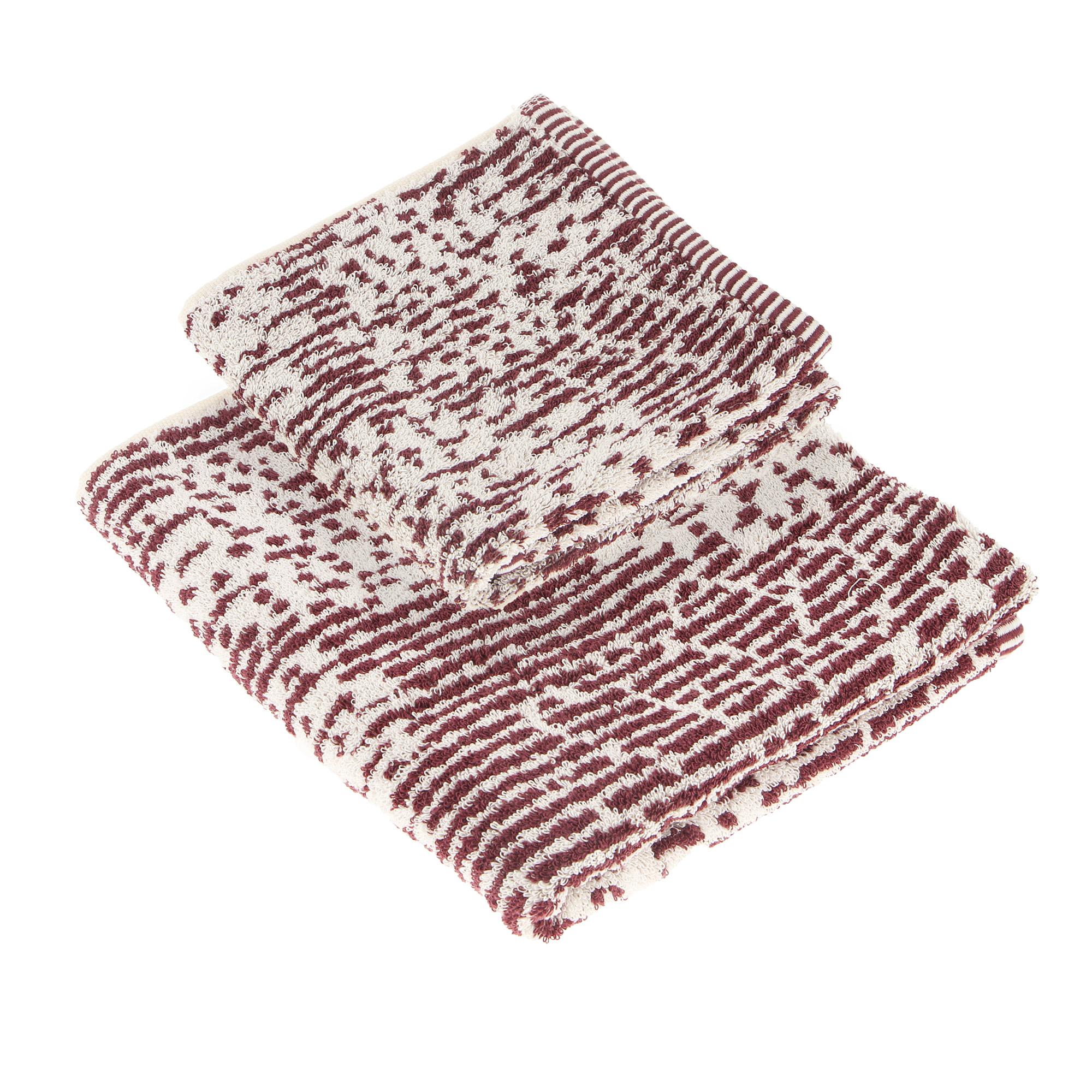 Набор полотенец Cogal omega 40х60+60х100 bordeaux фото
