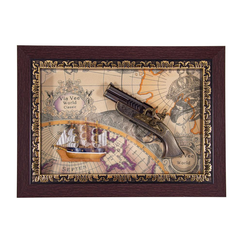 Коллаж декоративный Русские подарки Пистоли 37х27см