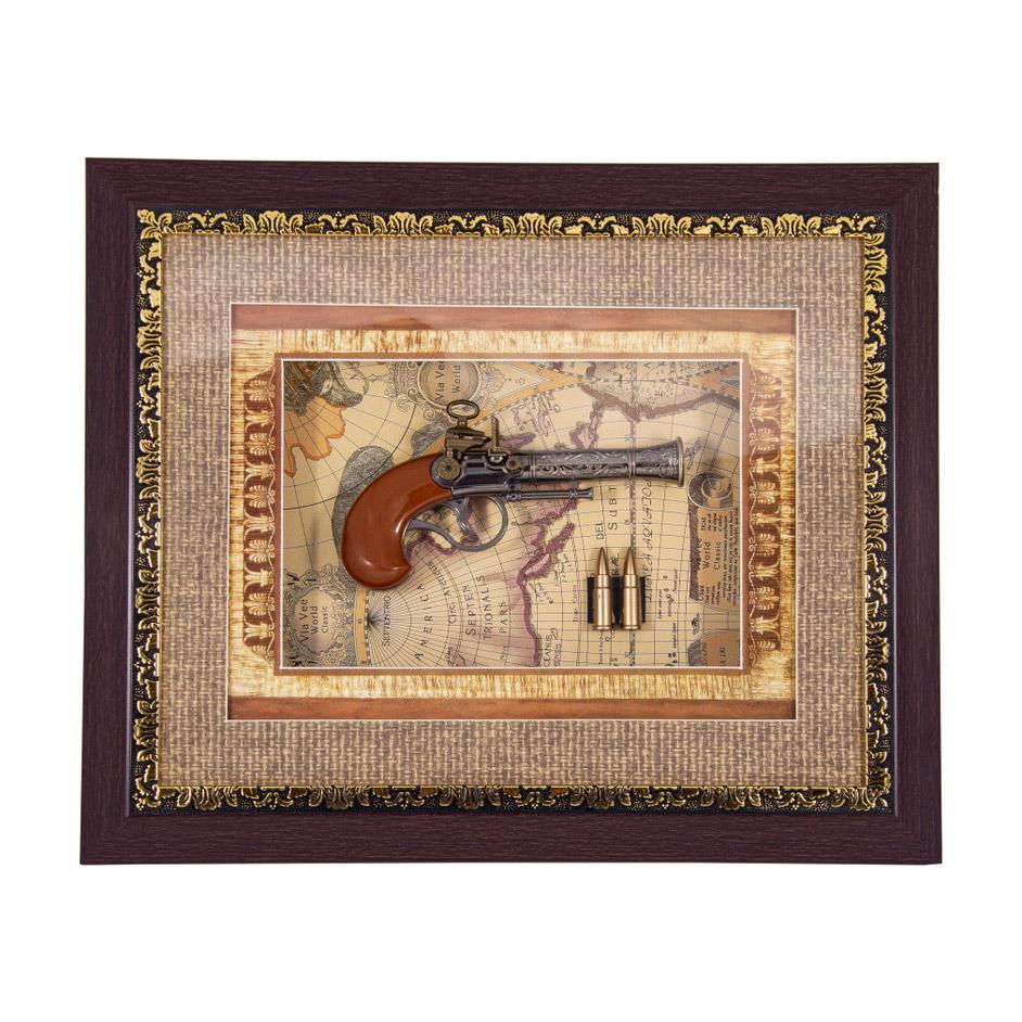 Коллаж декоративный Русские подарки Пистоли 44х34см фото