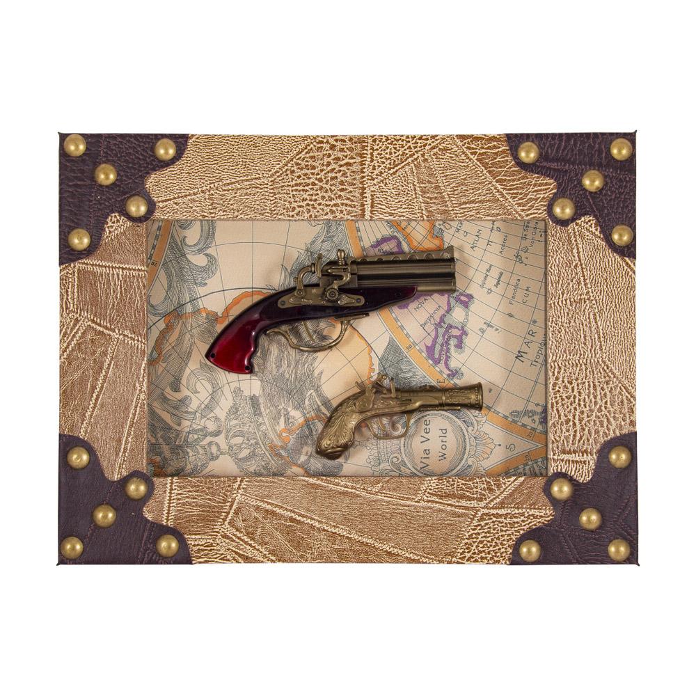 Коллаж декоративный Русские подарки Пистоли 47х37см фото