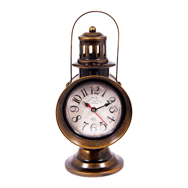 Часы Фонарь настольные Русские подарки 13х17х29см фото