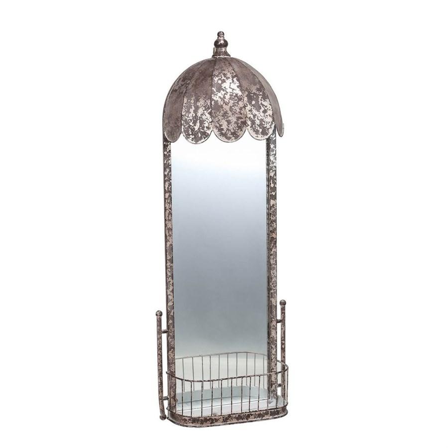 Зеркало Glasar овальное настенное в винтажном стиле 40x14x108 см фото
