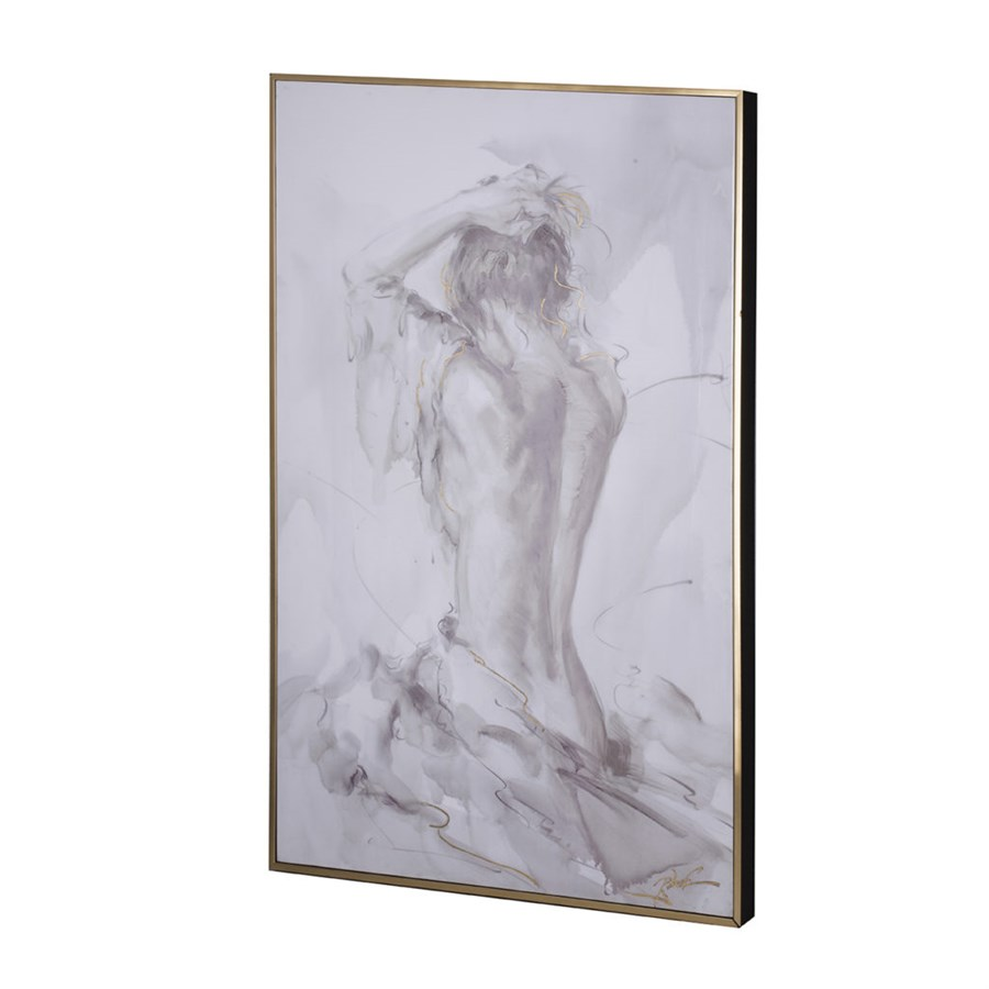 Картина Glasar с изображением обнаженной девушки 83х5х123см