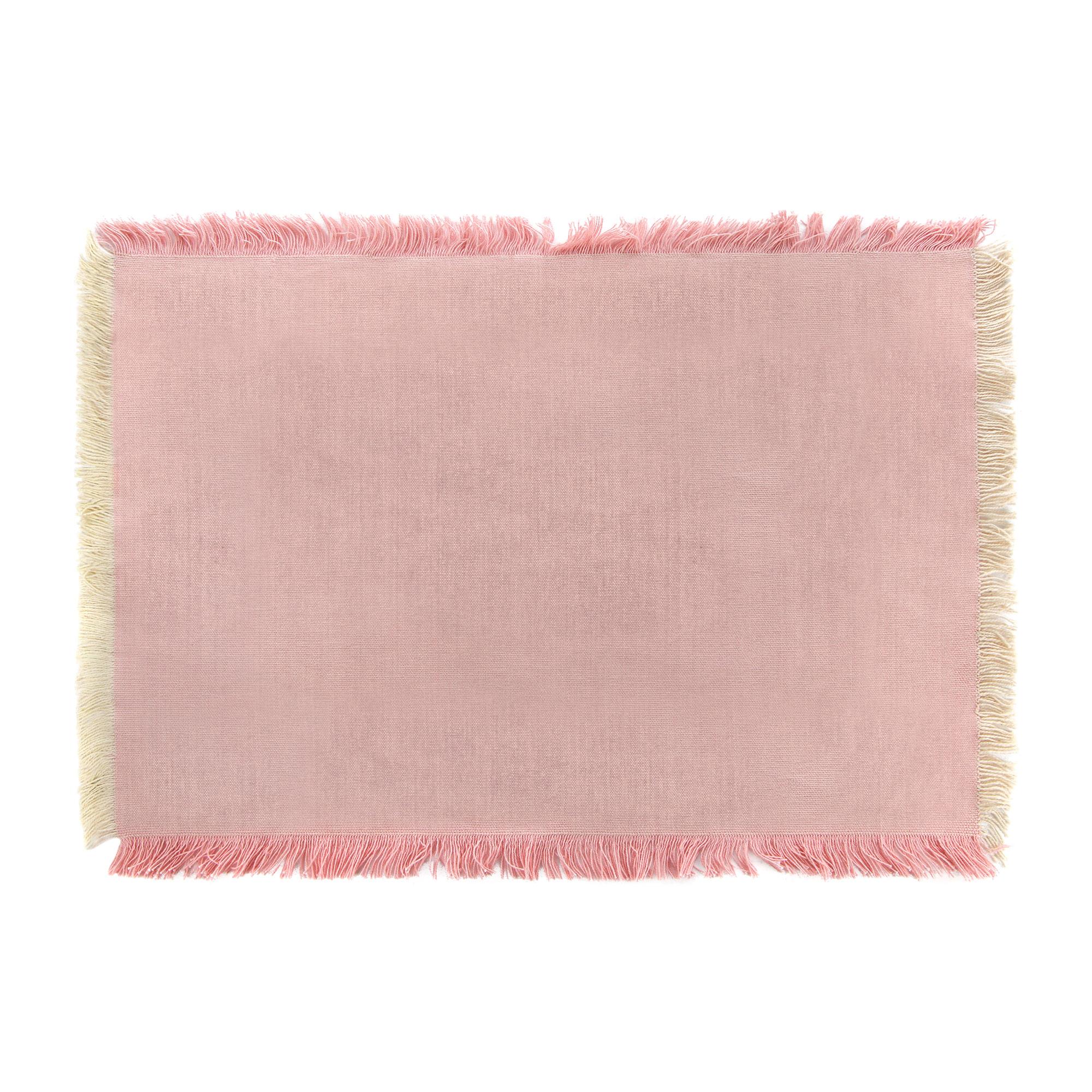 Салфетка сервировочная Villa deste frangia 33x48см розовая сервировочная салфетка 33х45 2 шт morocco style