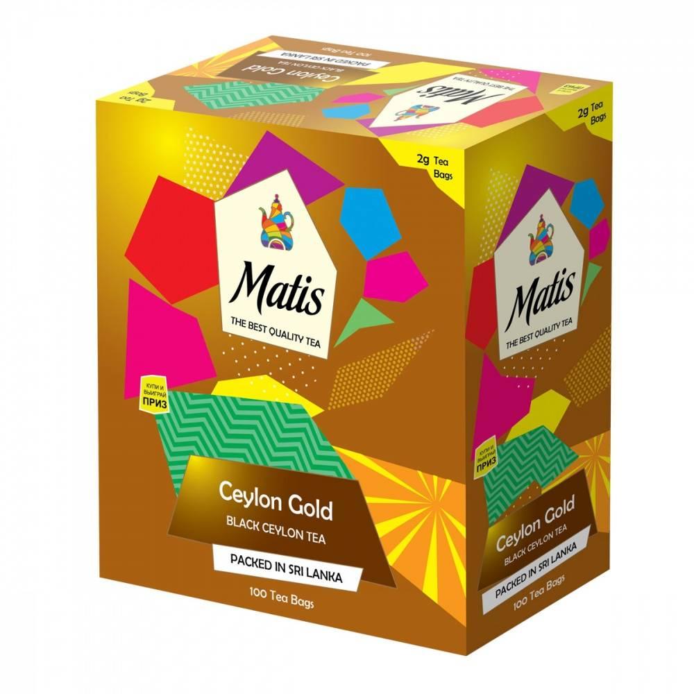 Чай черный Matis Золото Цейлона 100х2 г