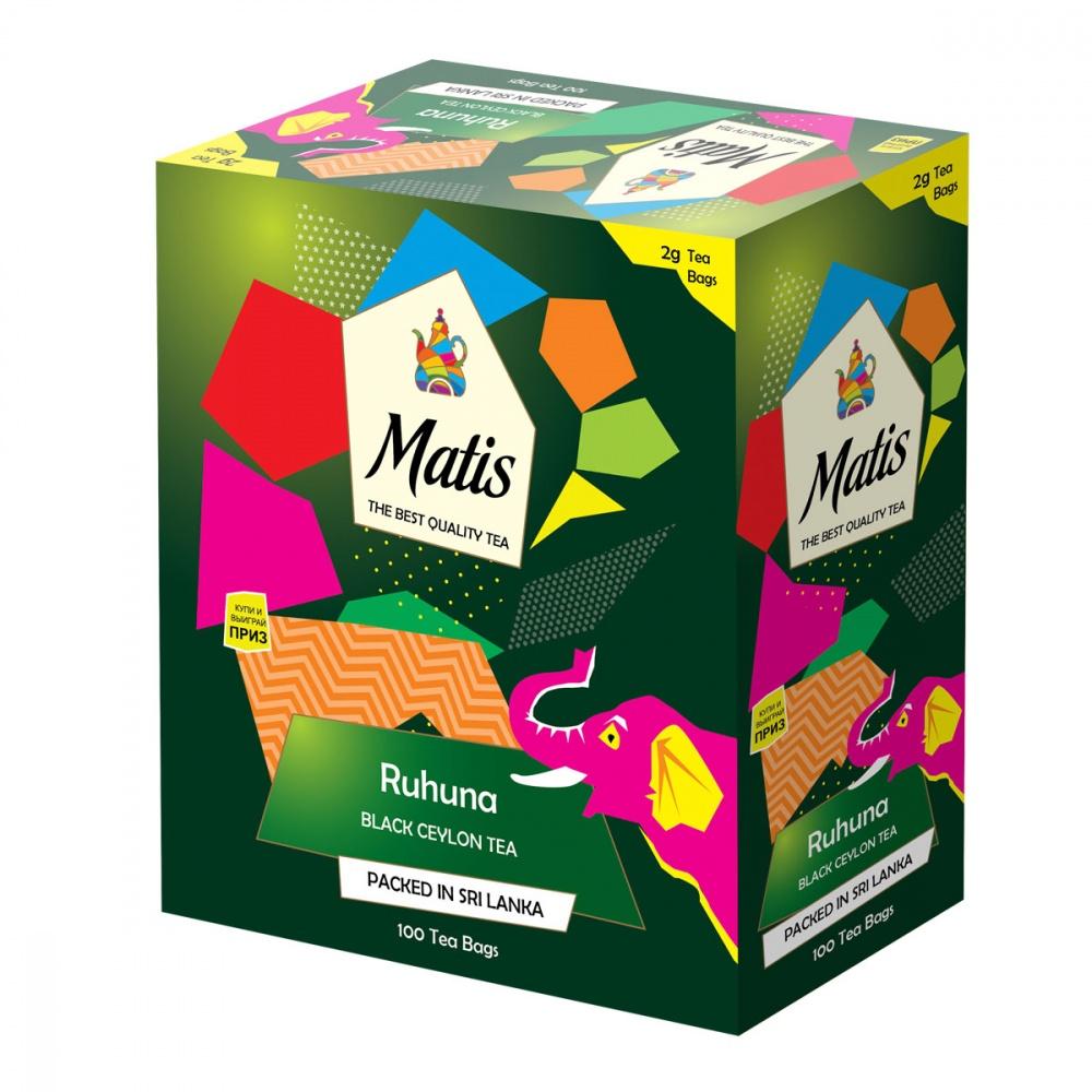 Чай черный Matis Рухуна 100х2 г недорого