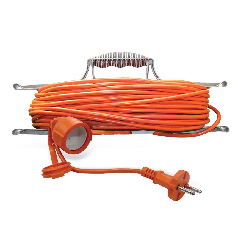 Удлинитель шнур на рамке Universal УШ-10 IP-54 ПВС 2*1 1 гнездо 10м