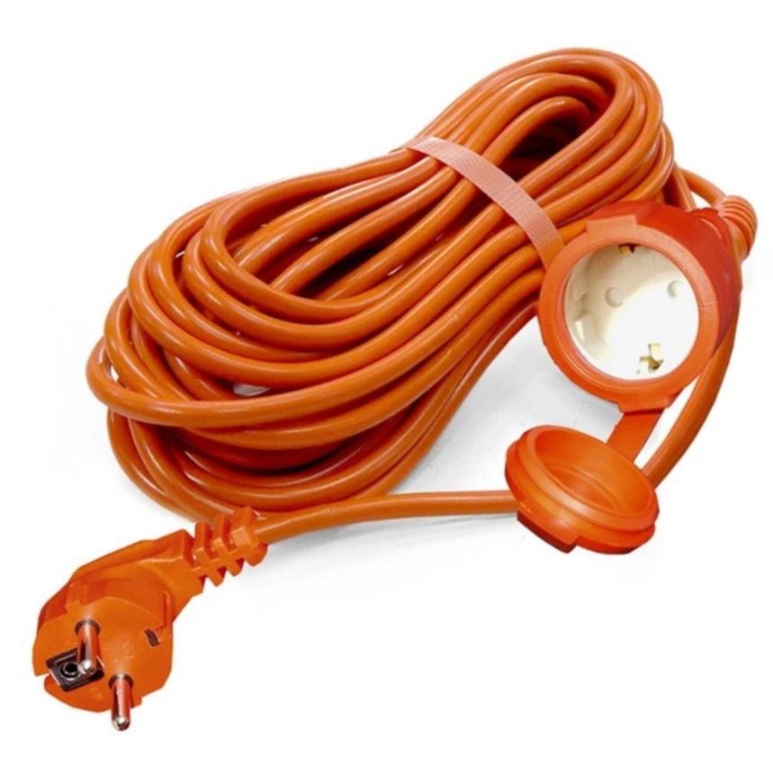 Удлинитель шнур Universal УШ-10 IP-54 ПВС 3*0,75 1 гнездо з/к 40м (еврослот) фото