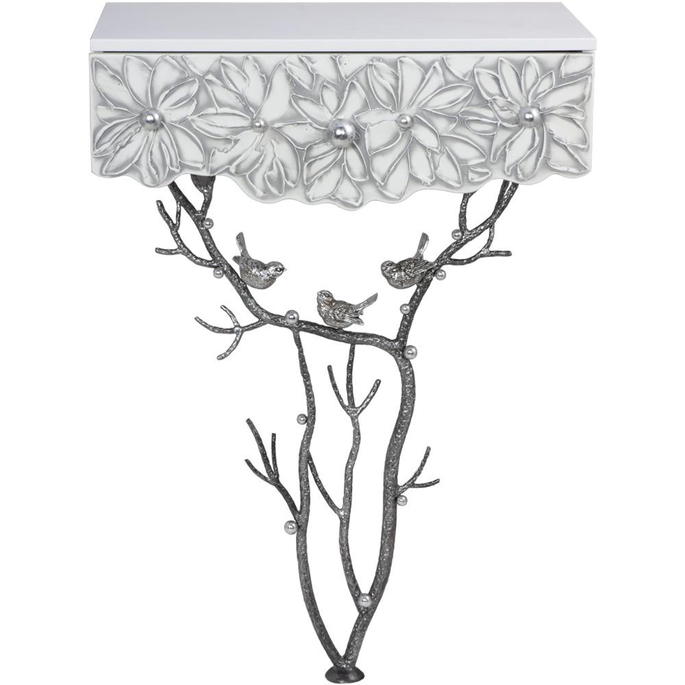 Стол пристенный Bogacho Терра Айс античное серебро столик декоративный bogacho терра роуз веер айс бл цв к античное серебро аср