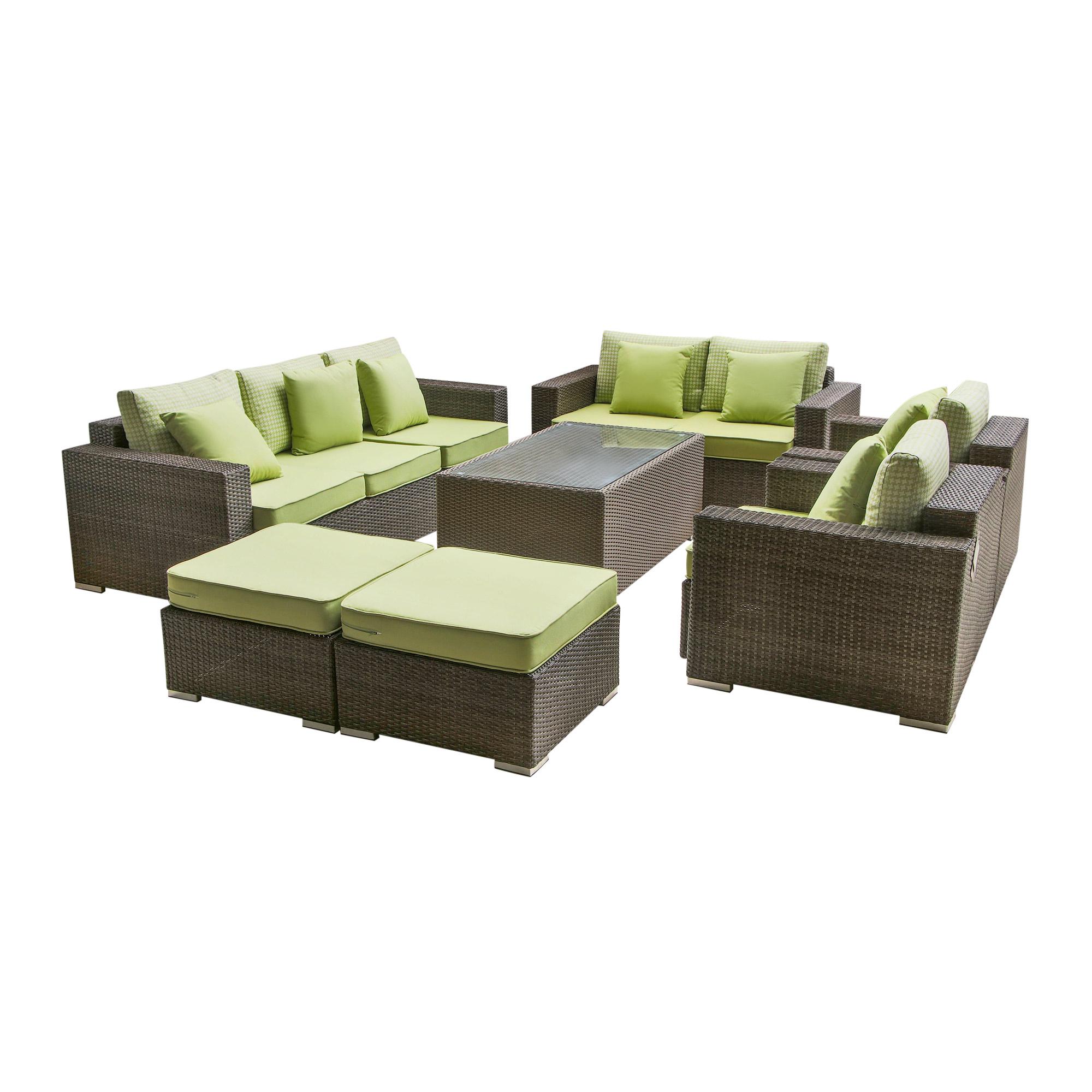 Комплект мебели Mavi rattan 7 предметов пуфы