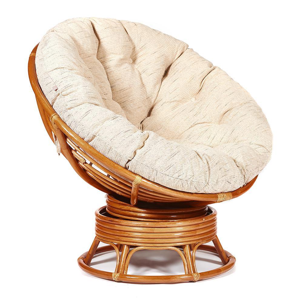 Кресло-качалка TC натуральный ротанг 115х98х97 см фото